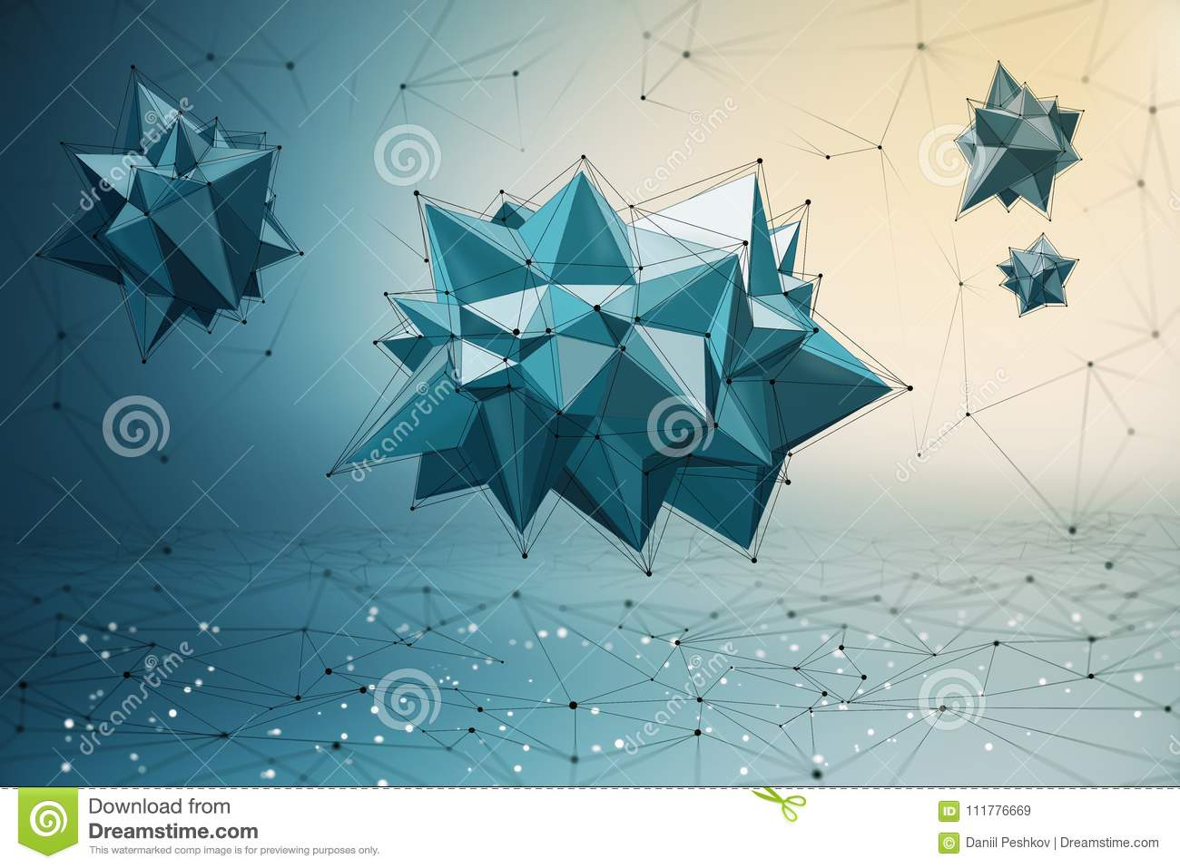Polyonal figure background