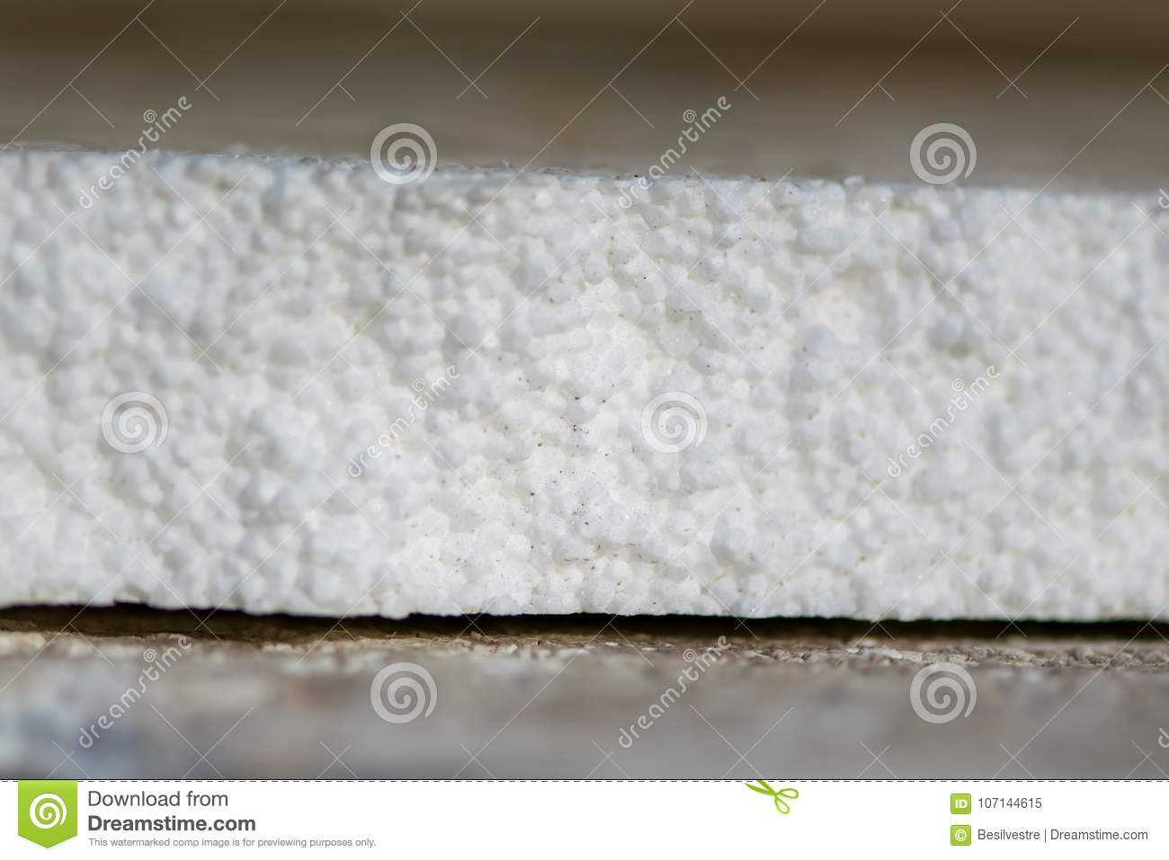 Polystyrene Foam  White Background  Stock Image - Image of pile