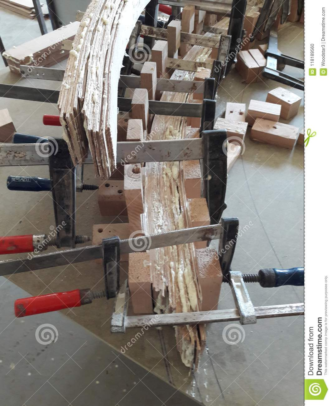 Manufacturing Of Curved Handrails For A Spiral Staircase.