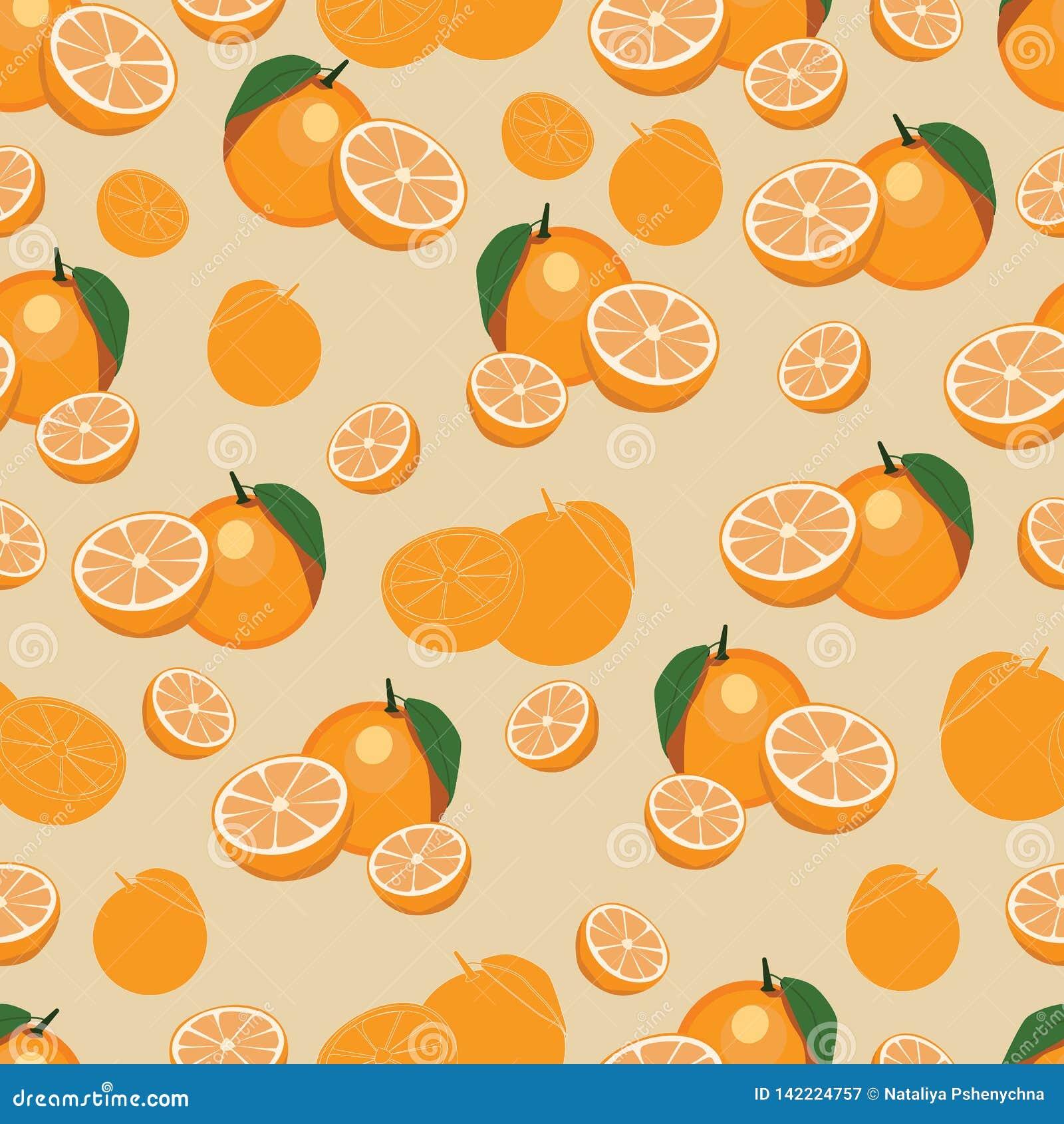 Pomarańczowa owoc powtarzający wzór