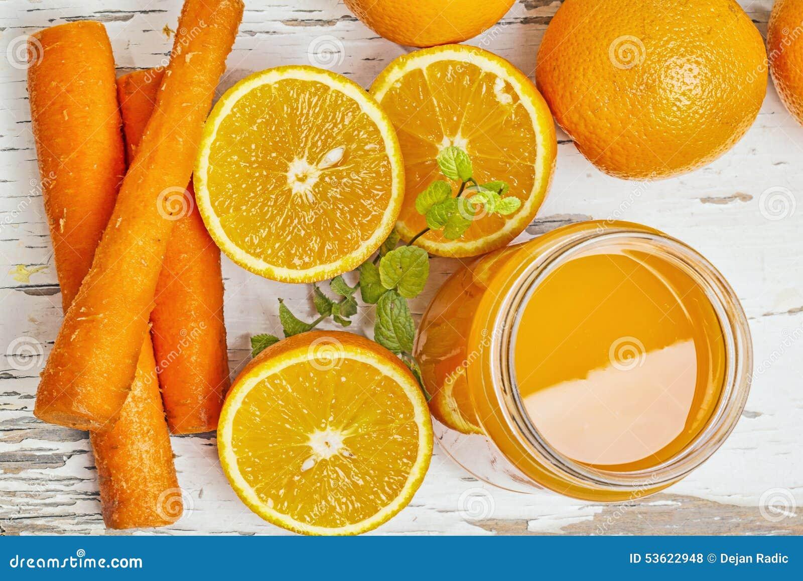 Pomarańcze i marchewka