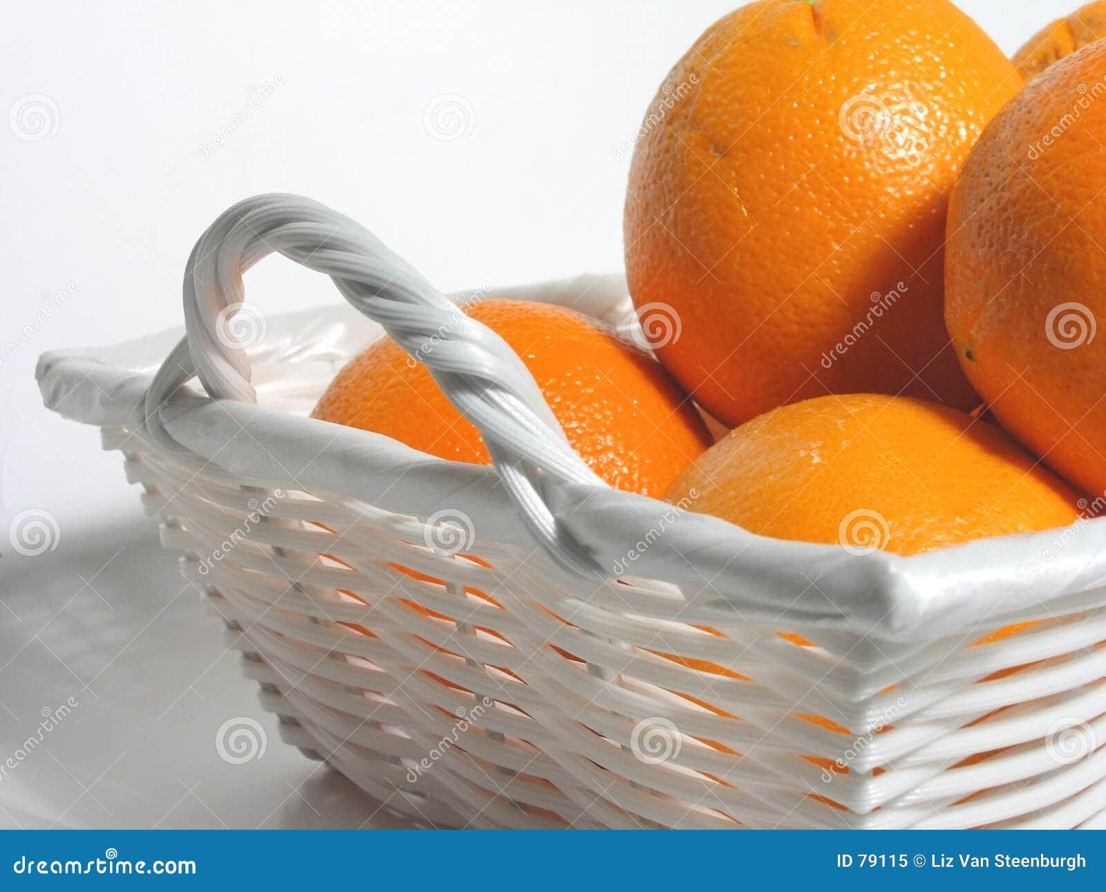 Pomarańcze koszykowe białe