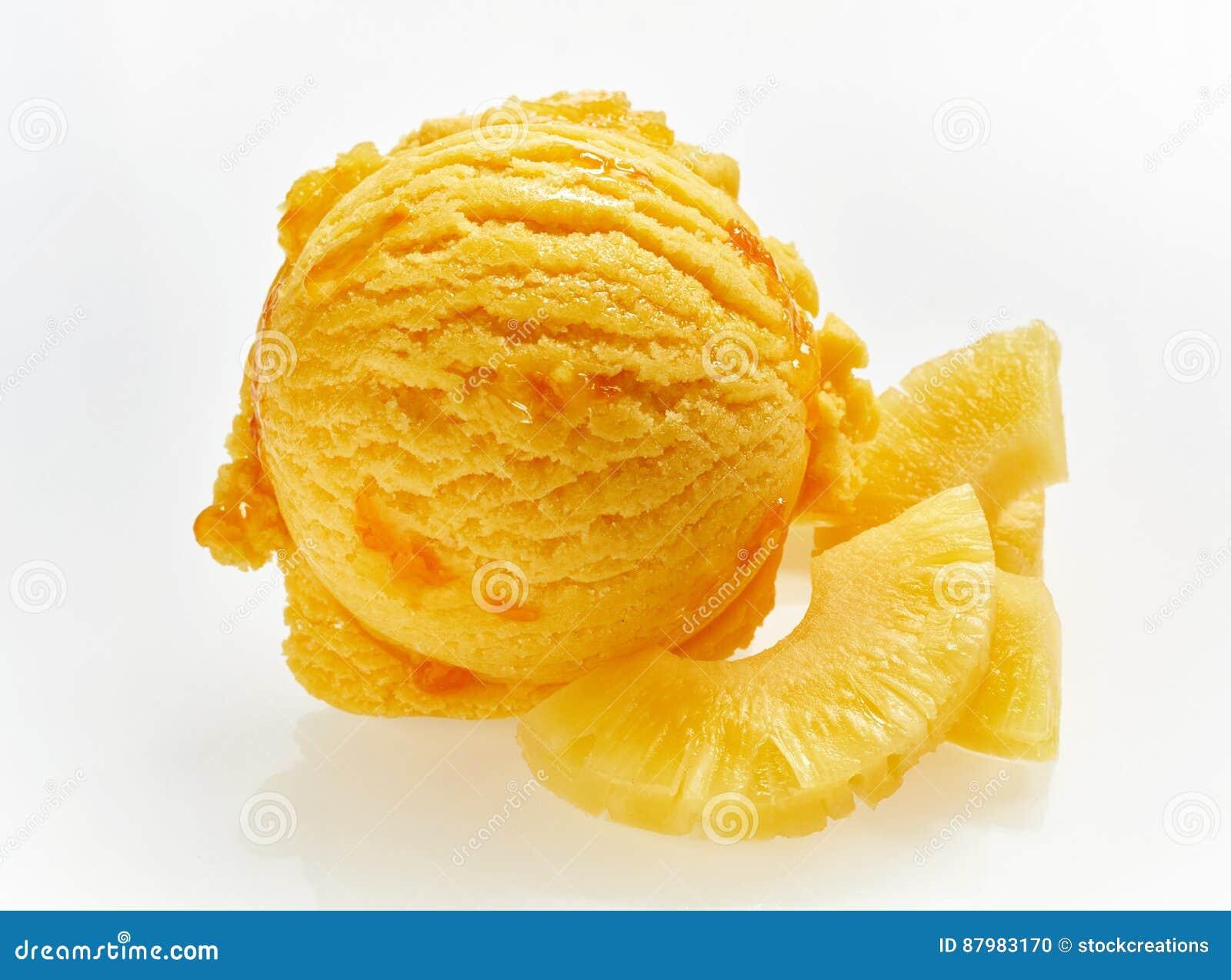 Pomarańczowa miarka Włoski ananasowy lody