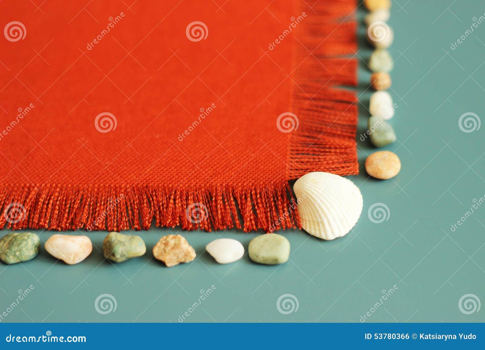 Pomarańczowa tekstura, morze łuska tutaj, denni kamienie, lata tło, twój wiadomość