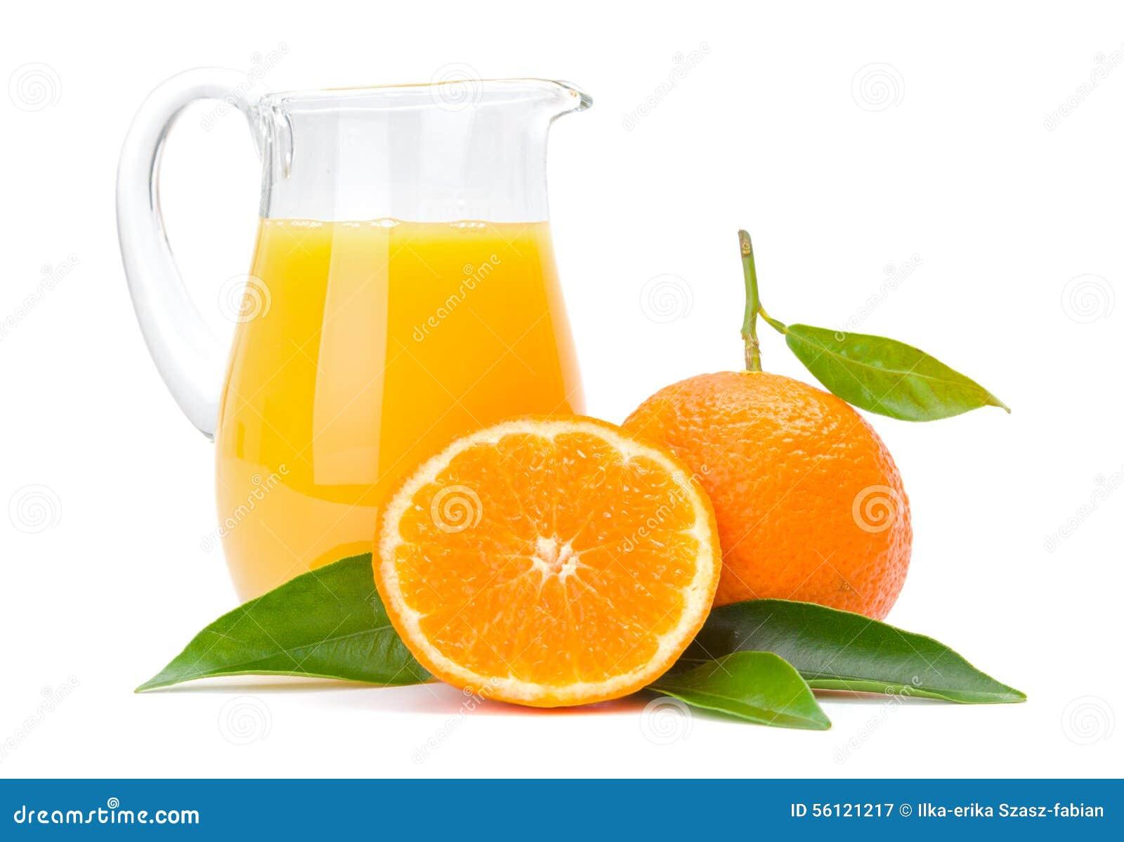 Pomarańczowe owoc i dzbanek sok