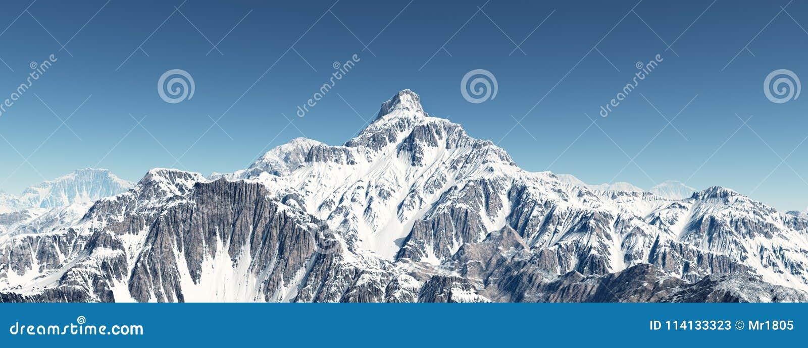 Pomarańczowy górski filtra panorama niebios