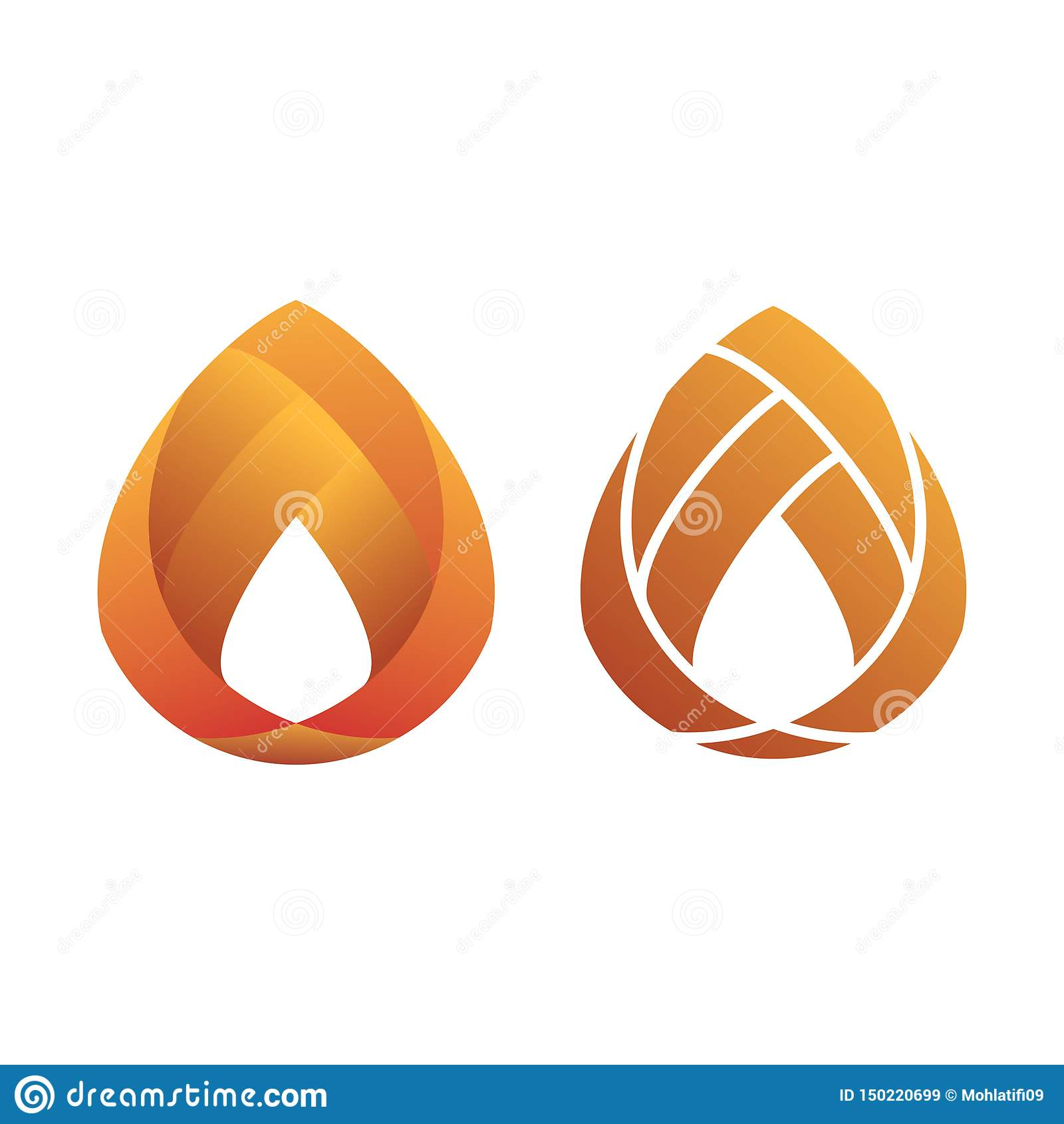 Pomarańczowy Gradientowy Nowożytny Płaski logo