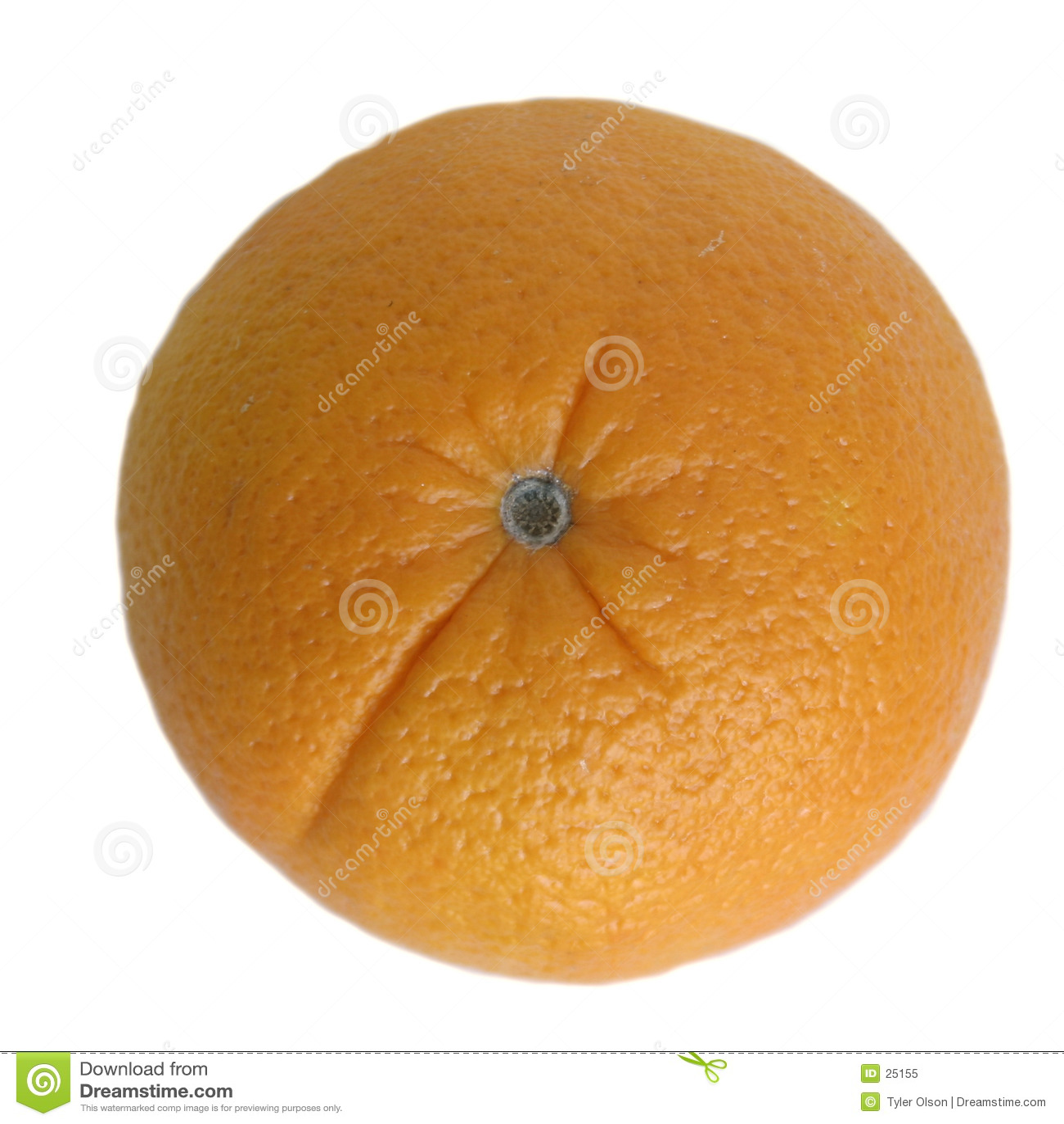 Pomarańczowy odosobnione white