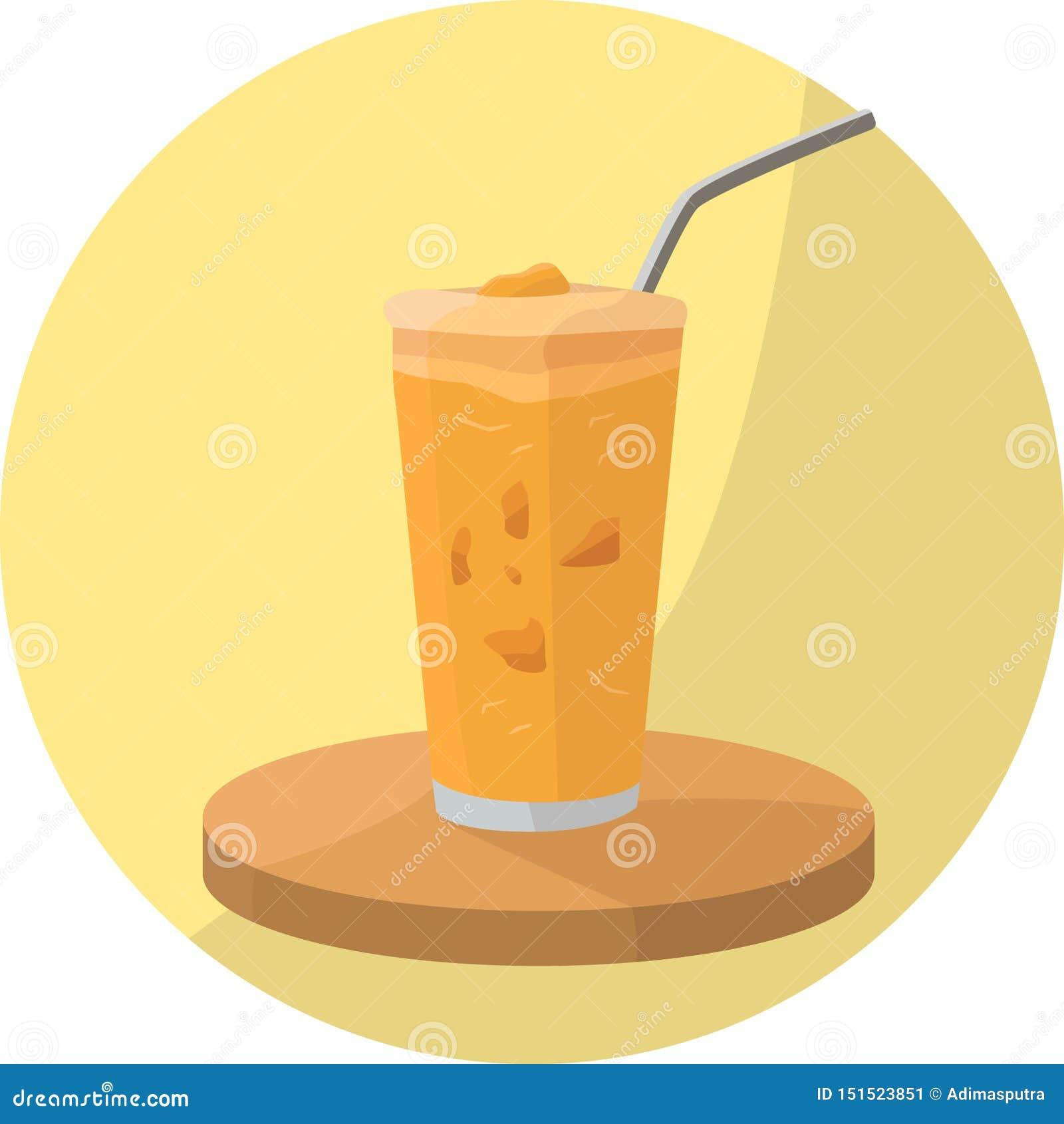 Pomarańczowy Smoothie napój z polewami
