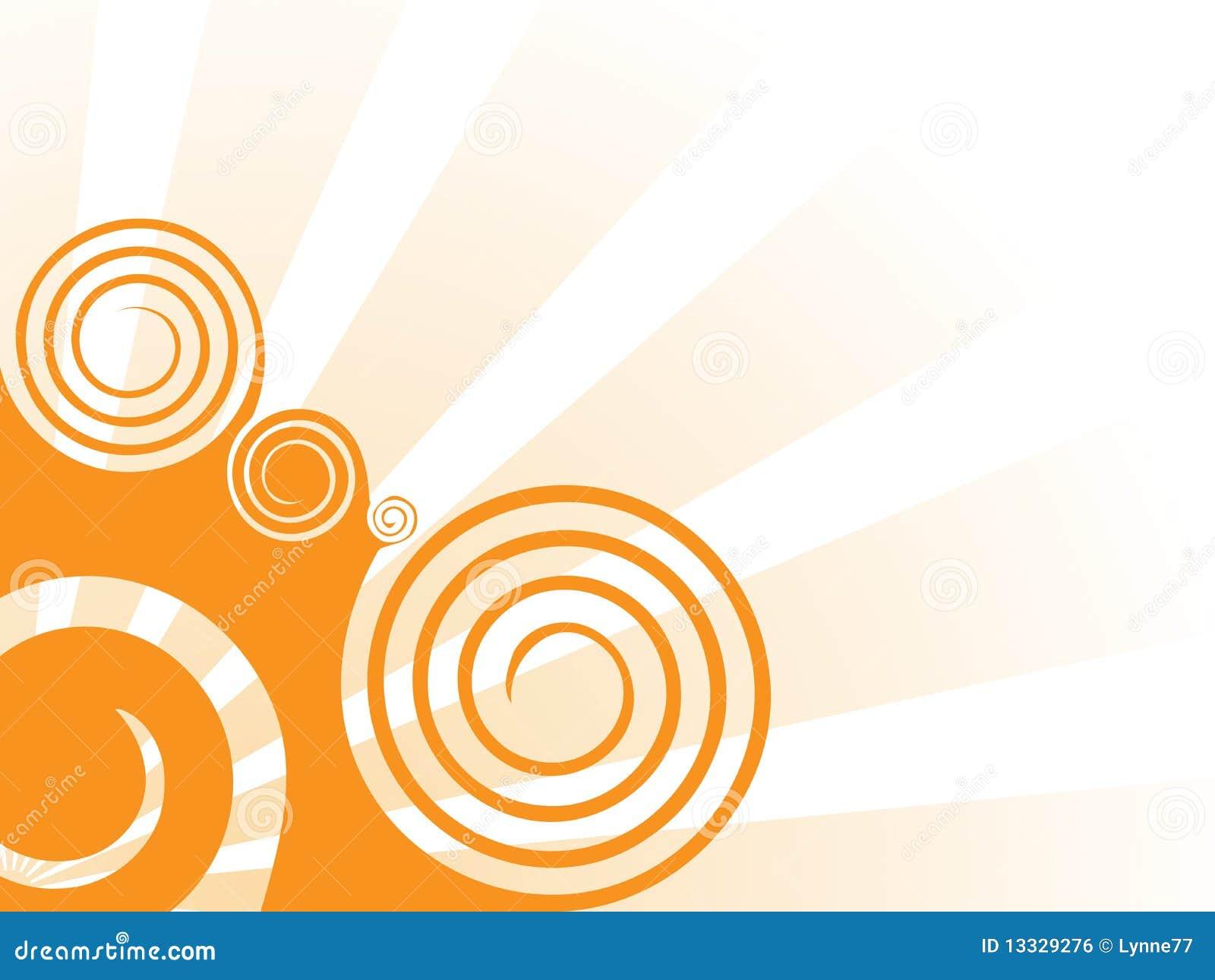 Pomarańczowy tło zawijas