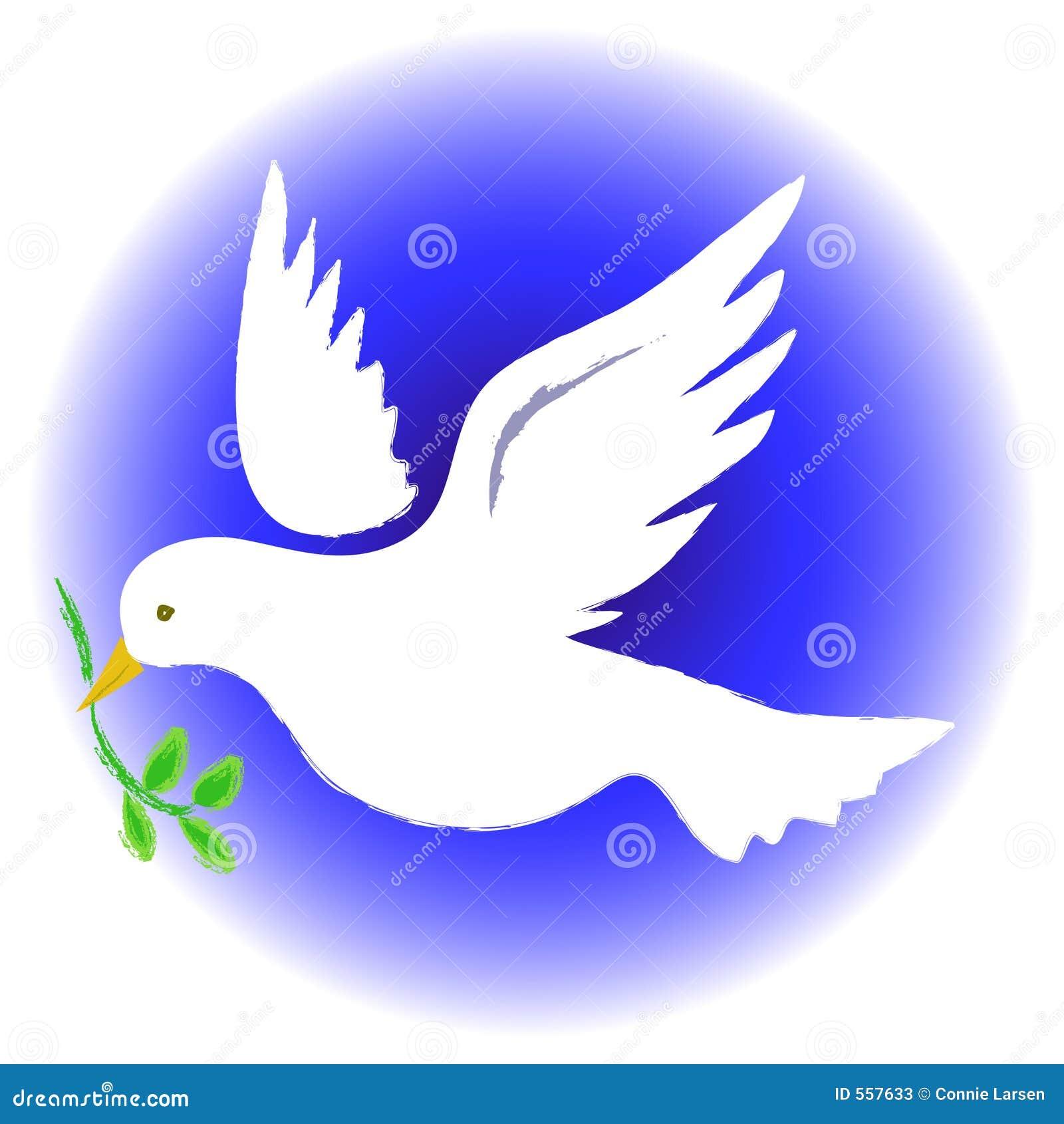 Pomba da paz redonda