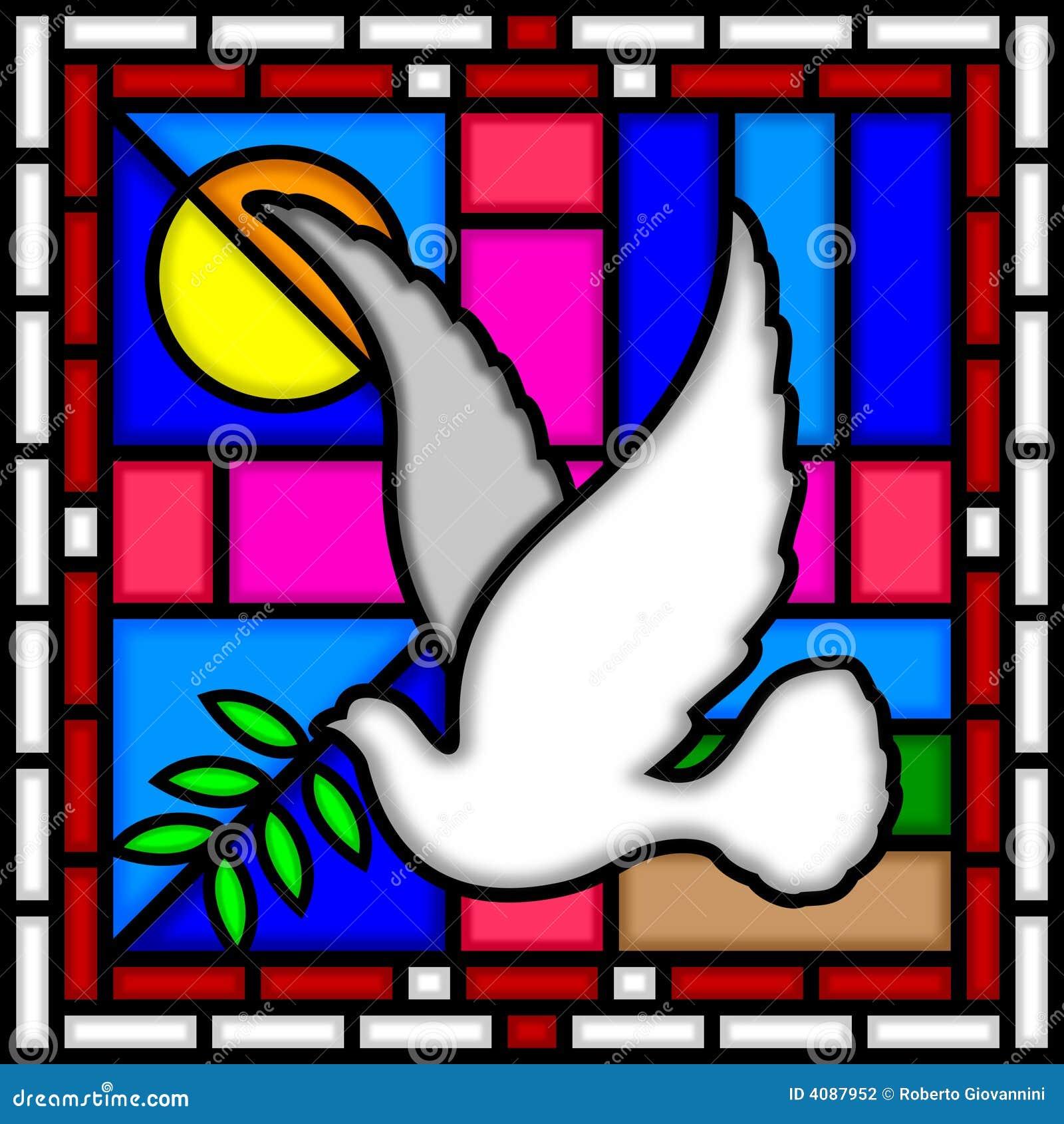 Pomba da paz [vidro manchado]