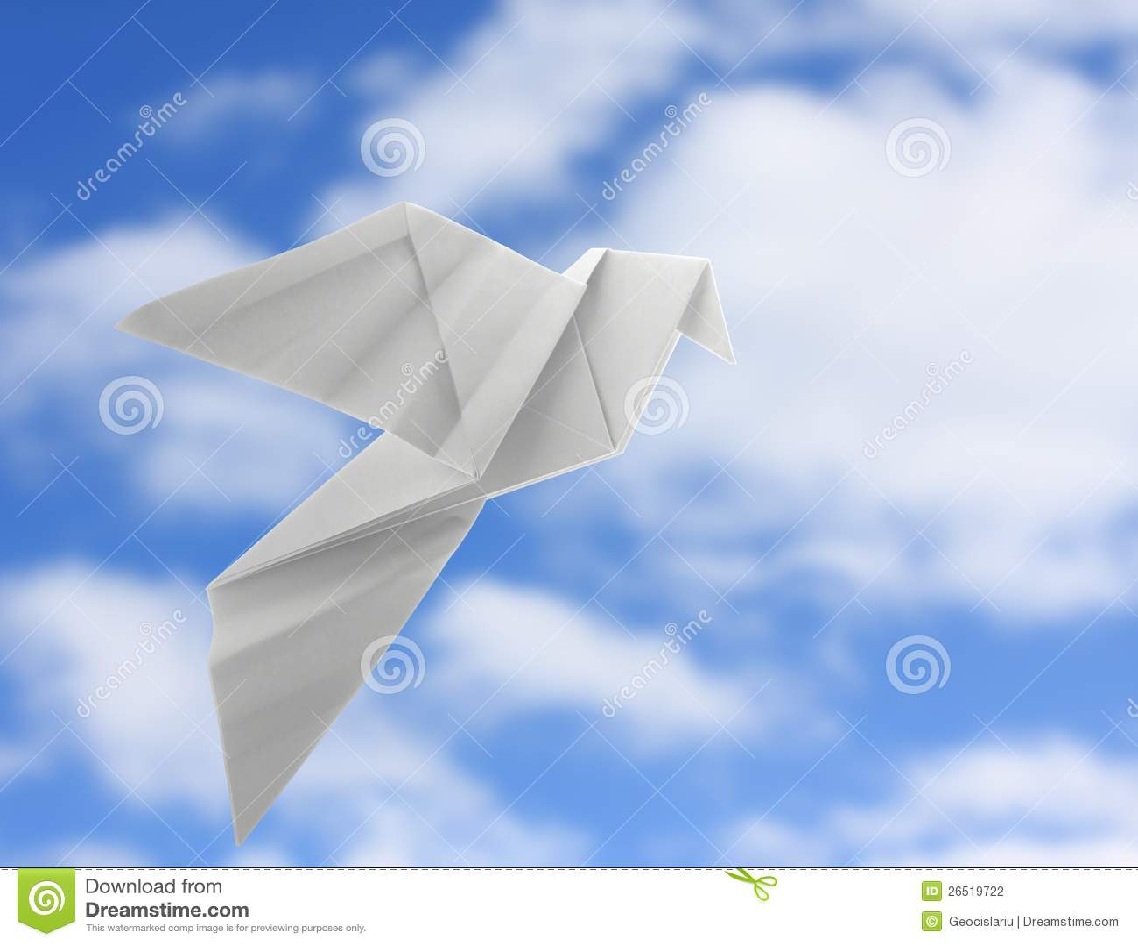 Pomba de Origami