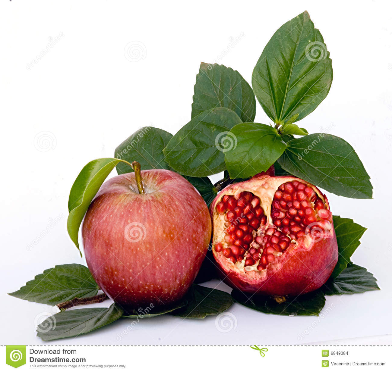 Pomegranate And Apple Stock Images - Image: 6849084