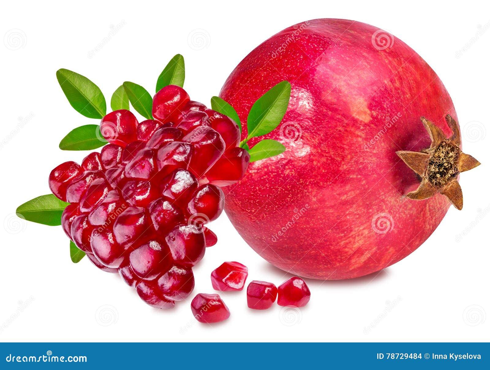 Pomegranate på white
