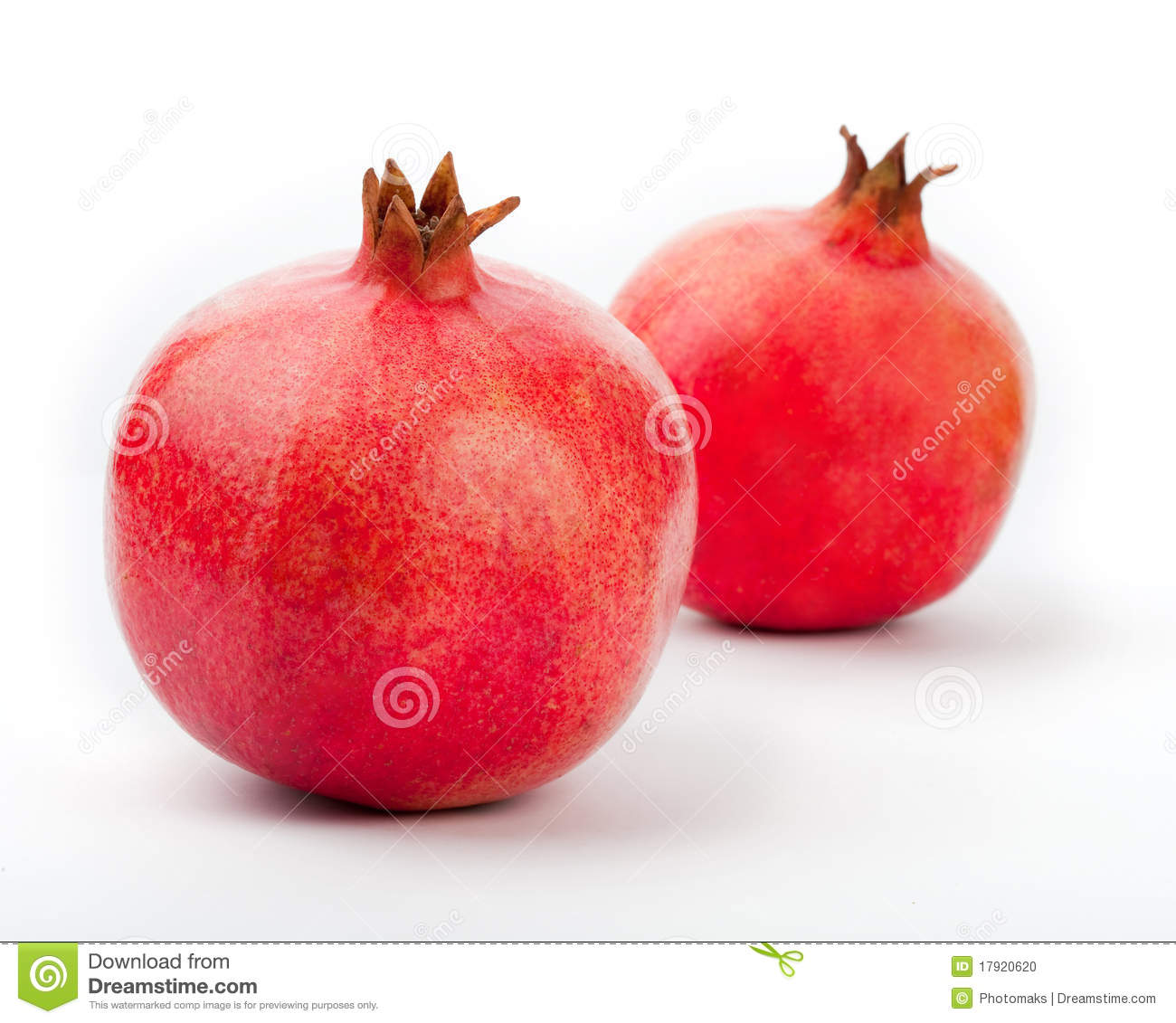 Pomegranate on a white