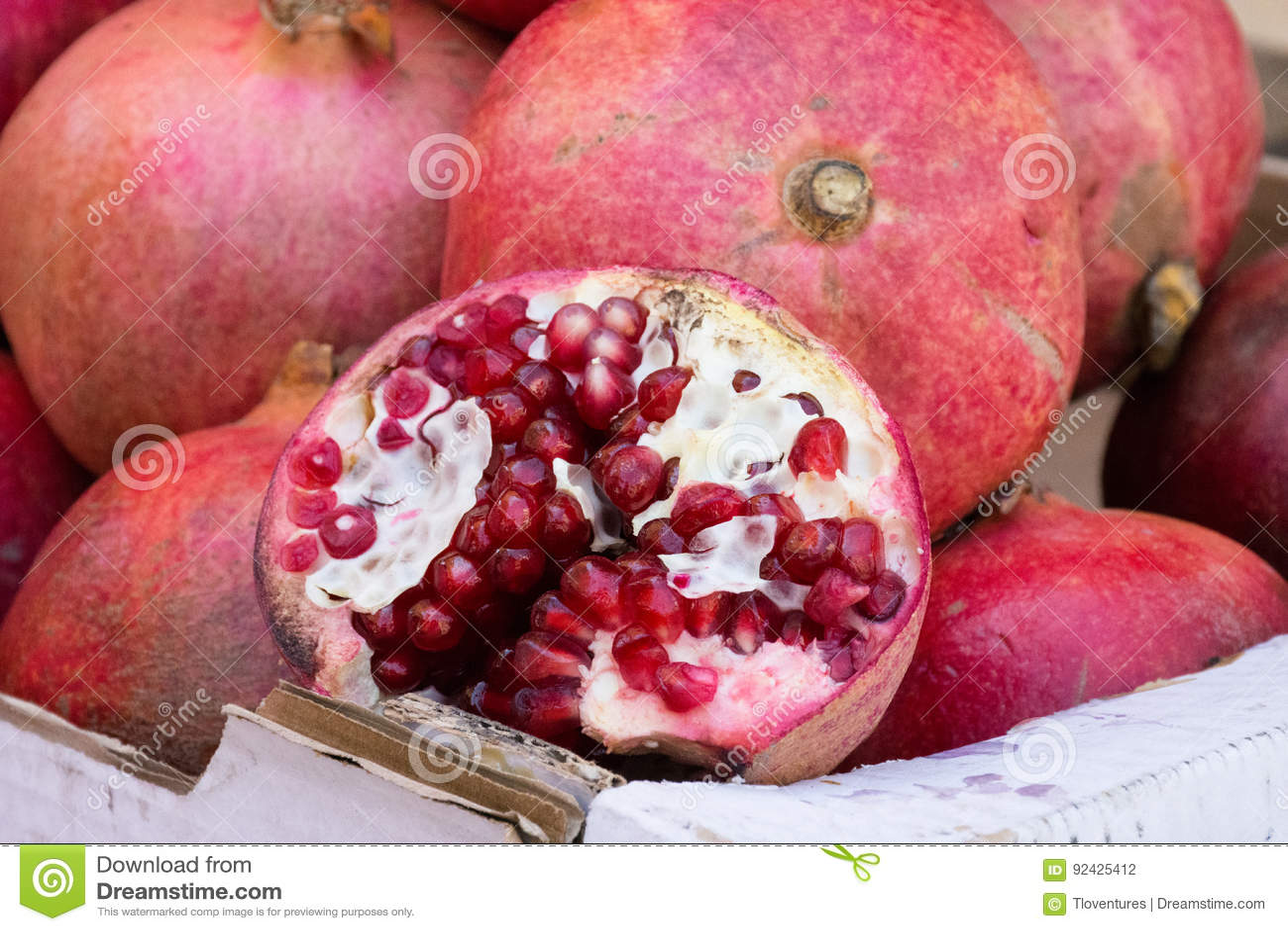 Pomegranates in Box