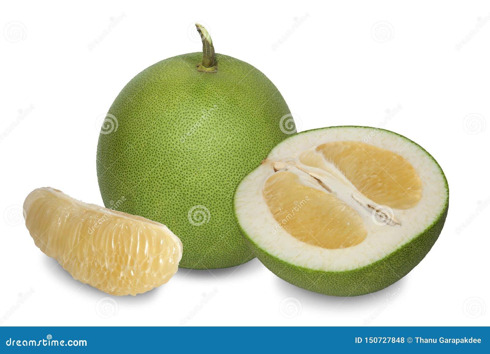 Pomelo με το παχύ πράσινο πτυχωμένο δέρμα