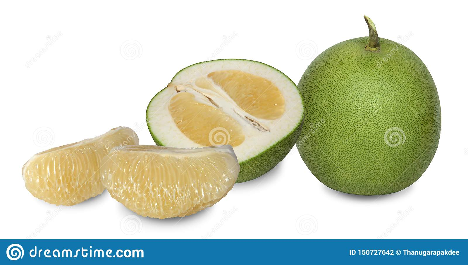 Pomelo is a plant in the same family as oranges with thick dimpled skin.