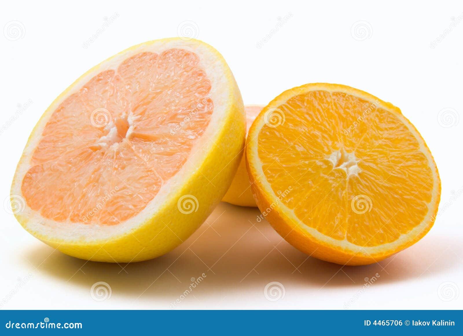Pomelo y naranja