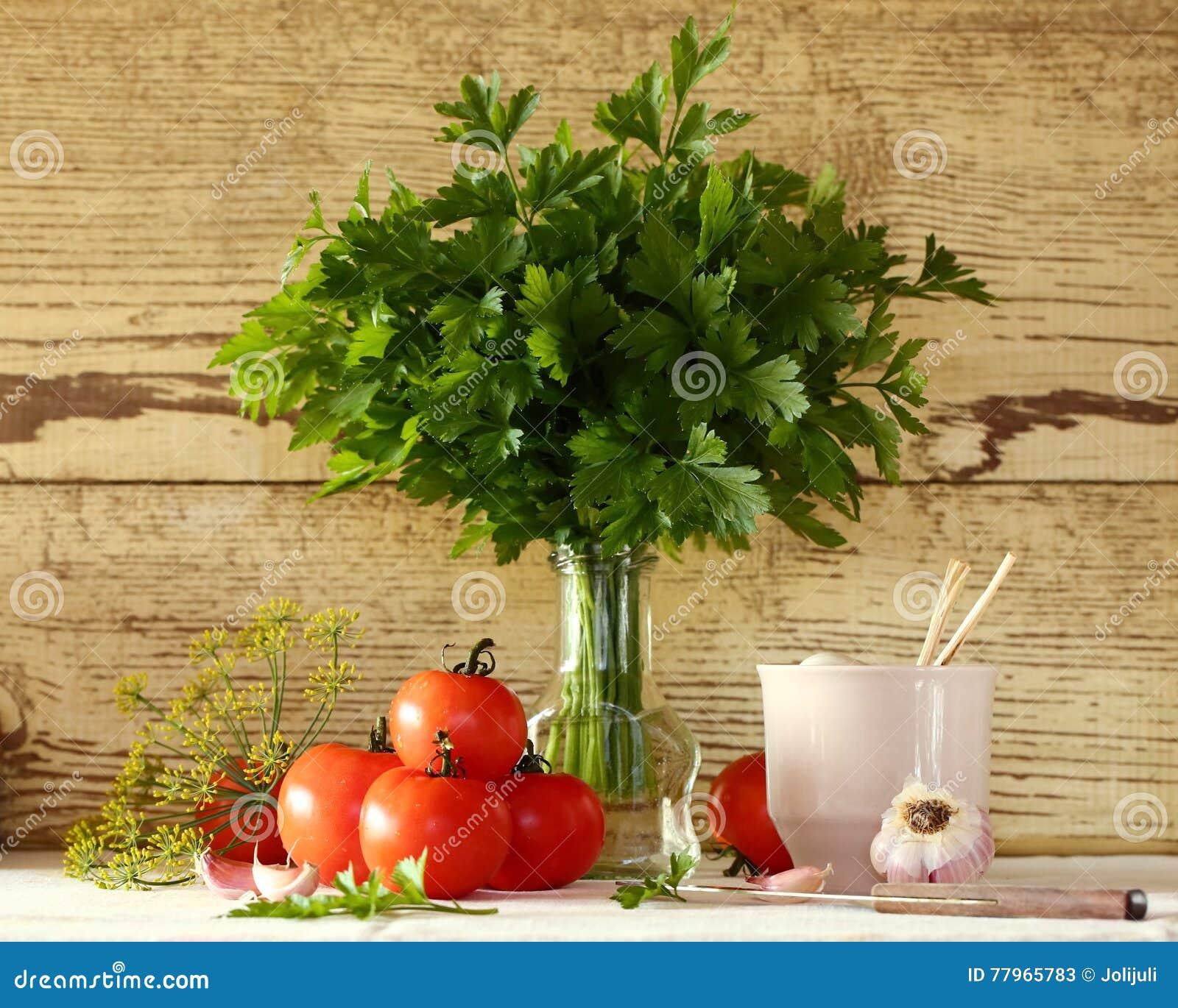 Pomidory i pietruszka
