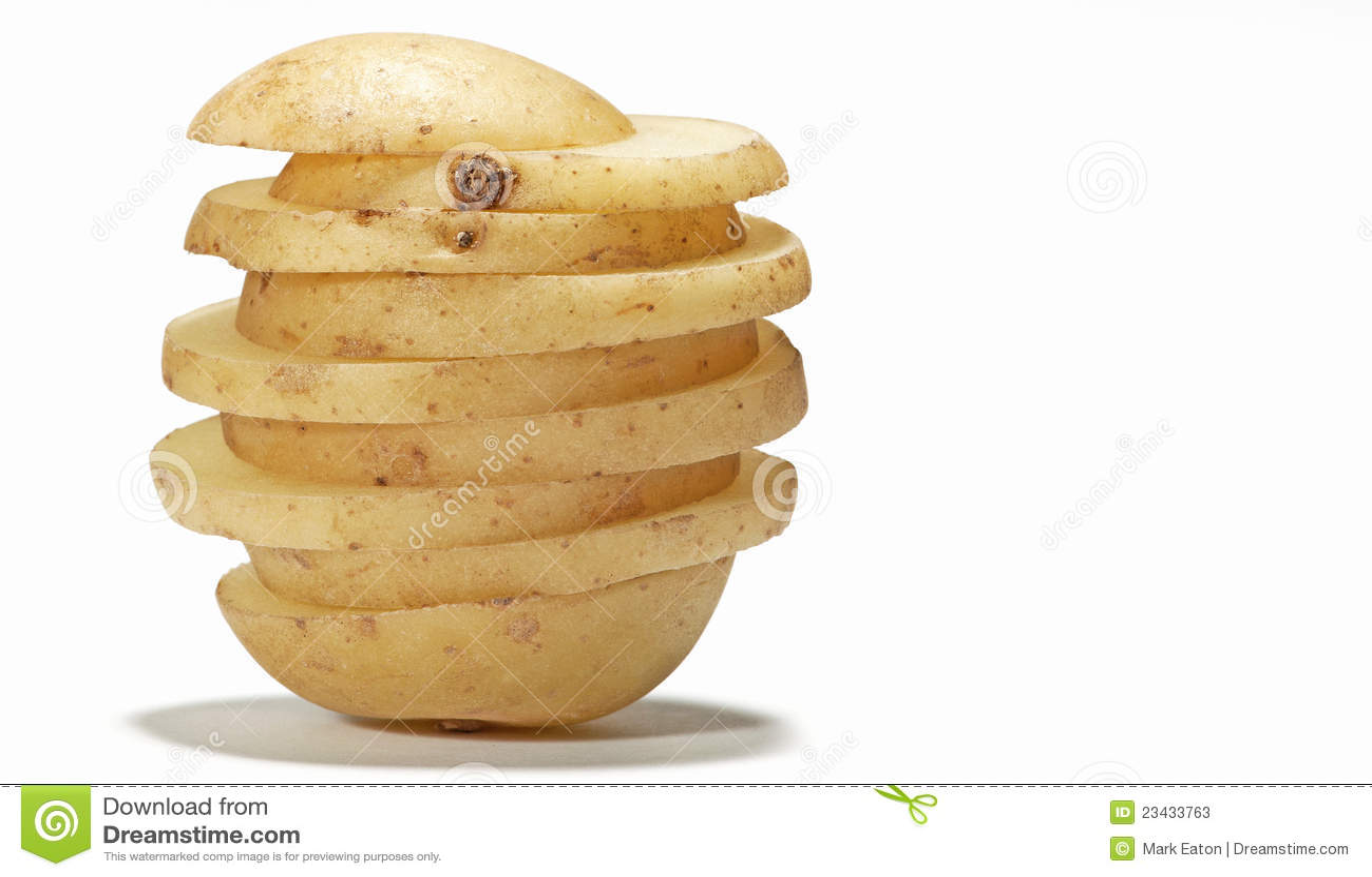 Pomme de terre coupée en tranches
