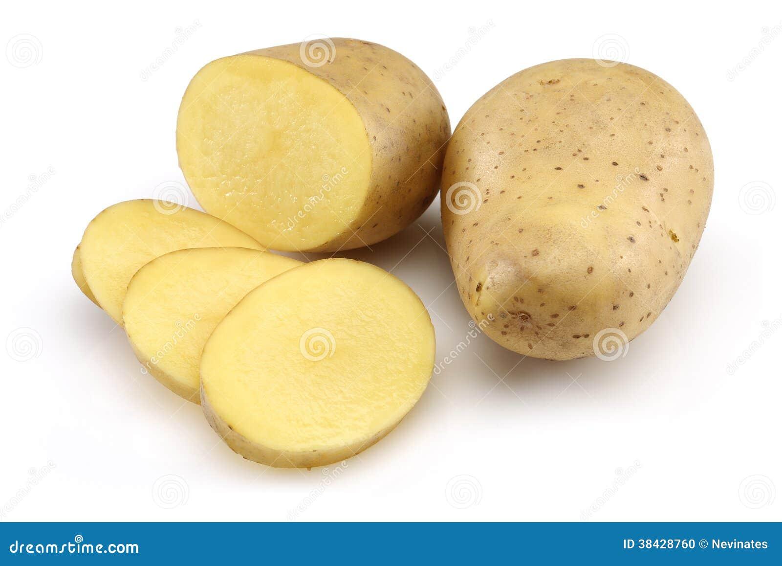 Pomme de terre crue et pomme de terre coup e en tranches photo stock image du vegan - Pomme de terre coup de soleil ...