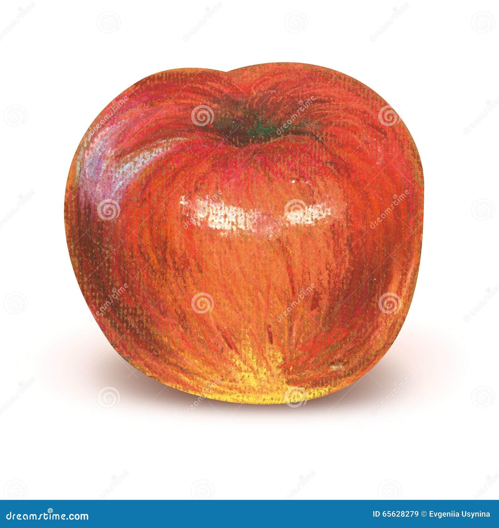Pomme rouge peinte avec le chemin de coupure