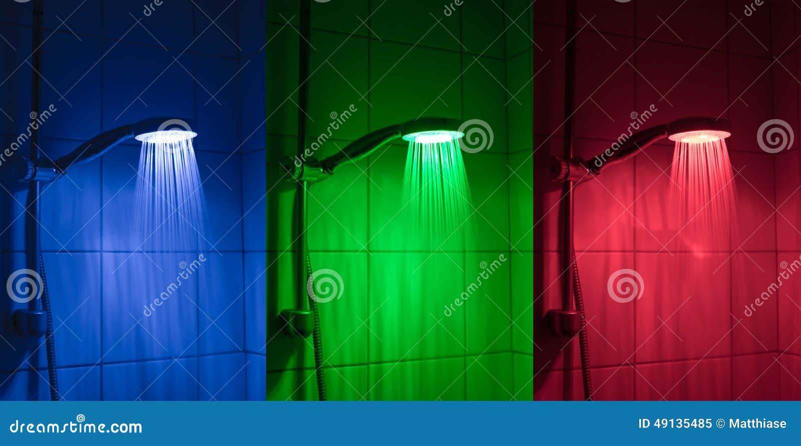 Pommeau de douche de LED