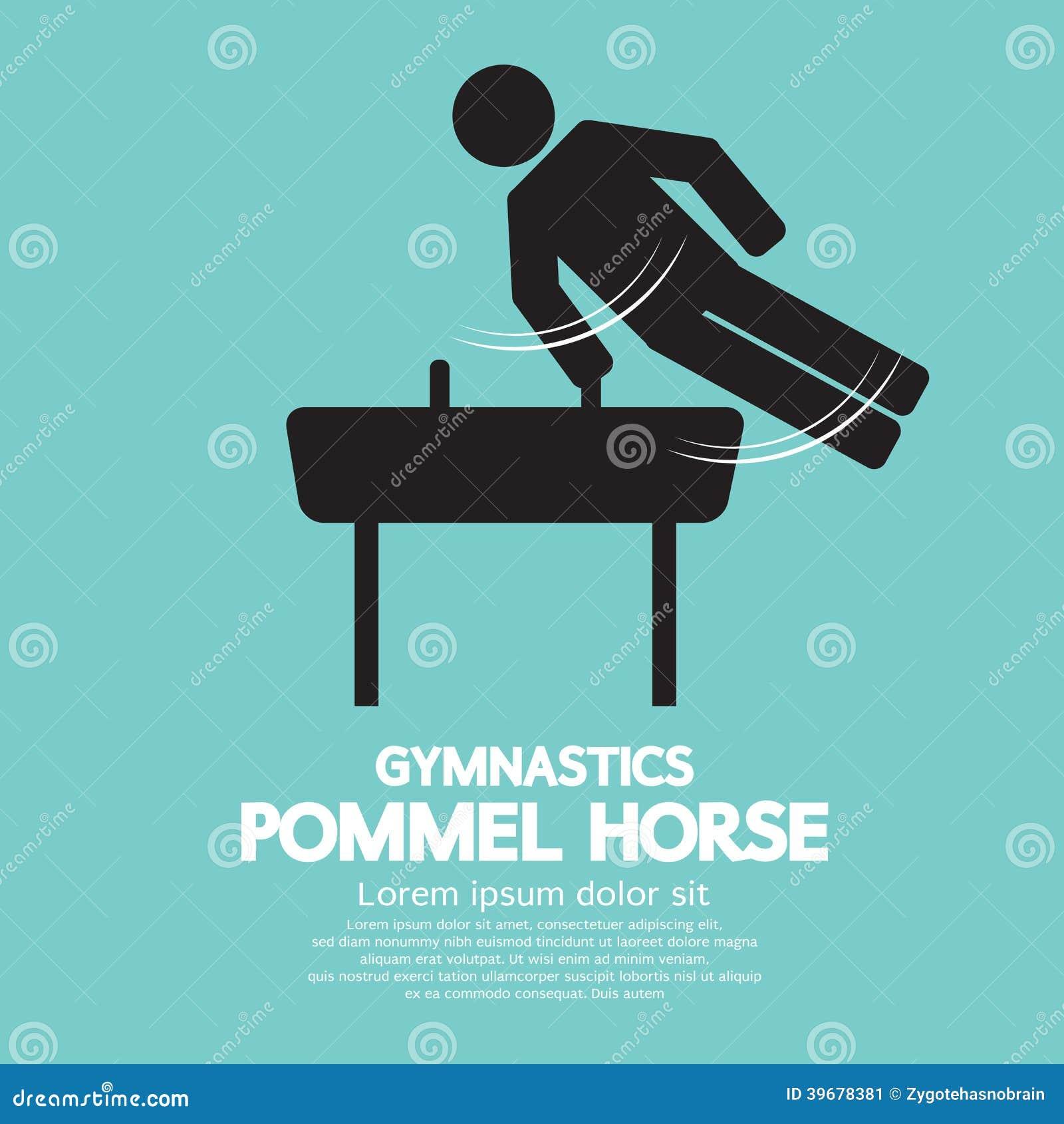 Pommel horse gymnastics stock vector image of background