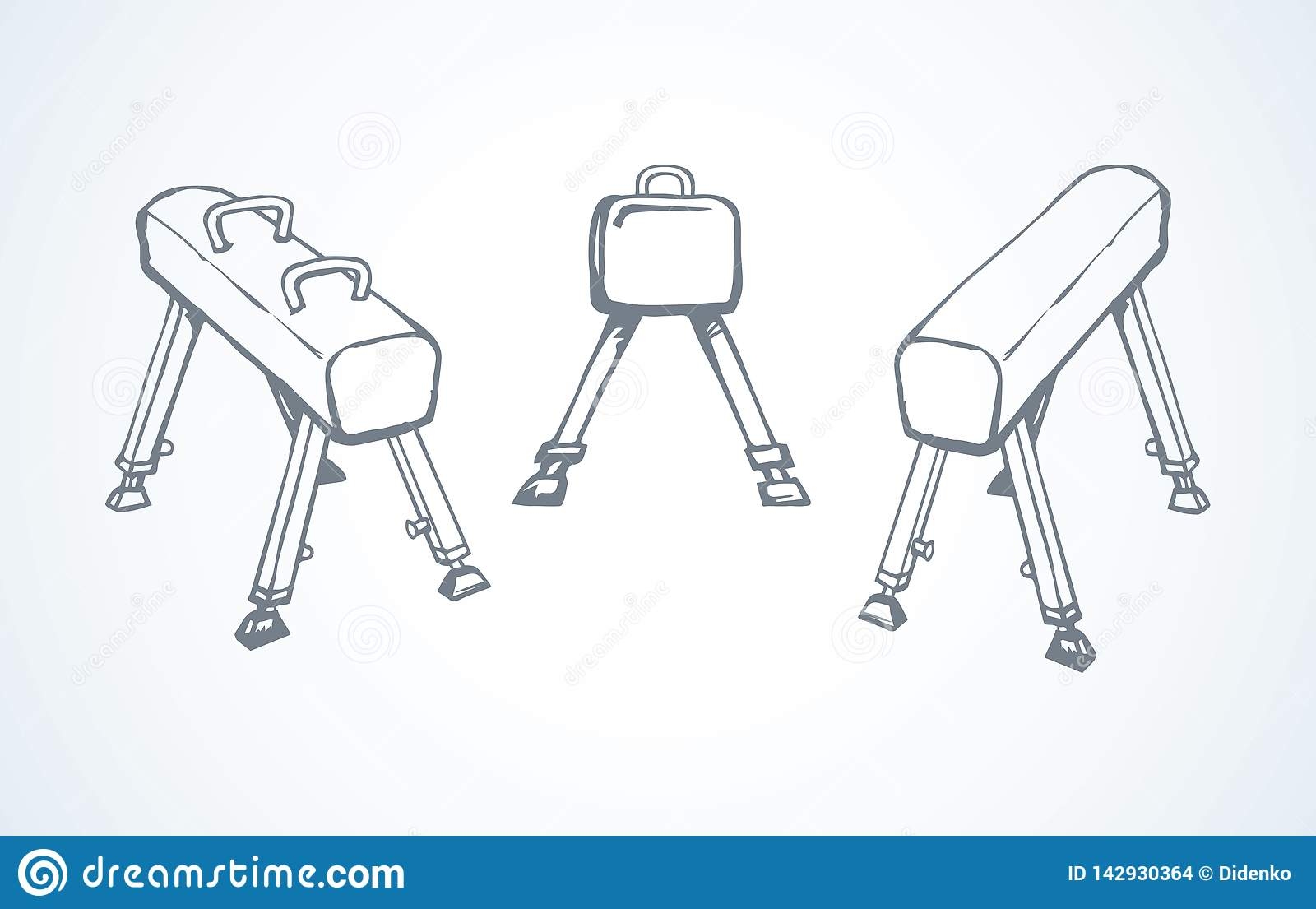 Pommel Horse  Vector Drawing Stock Vector - Illustration of