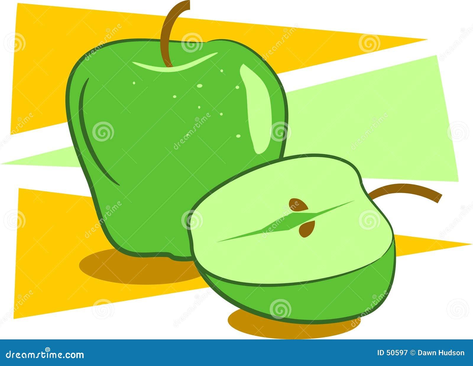Download Pommes illustration de vecteur. Illustration du dessins - 50597