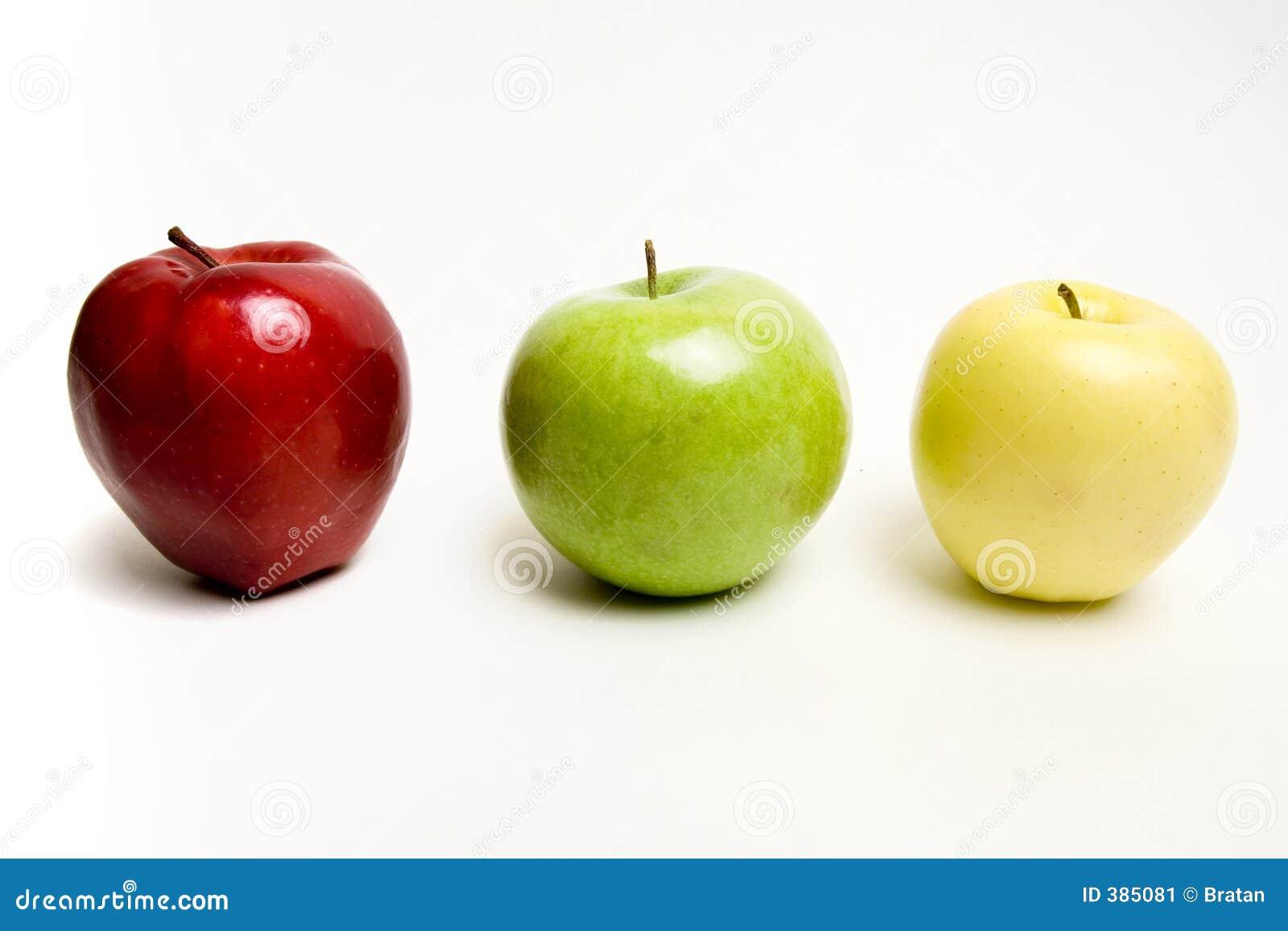 Pommes dans la ligne