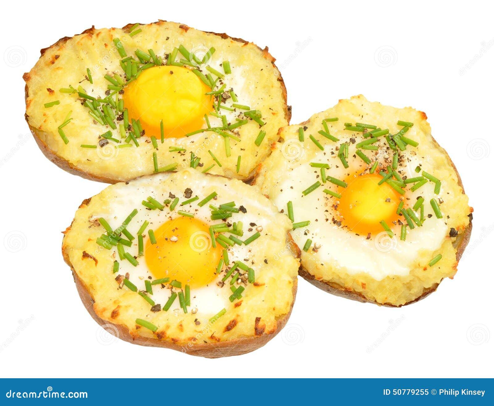 Pommes de terre cuites au four remplies par oeuf photo stock image 50779255 - Conservation pommes de terre cuites ...
