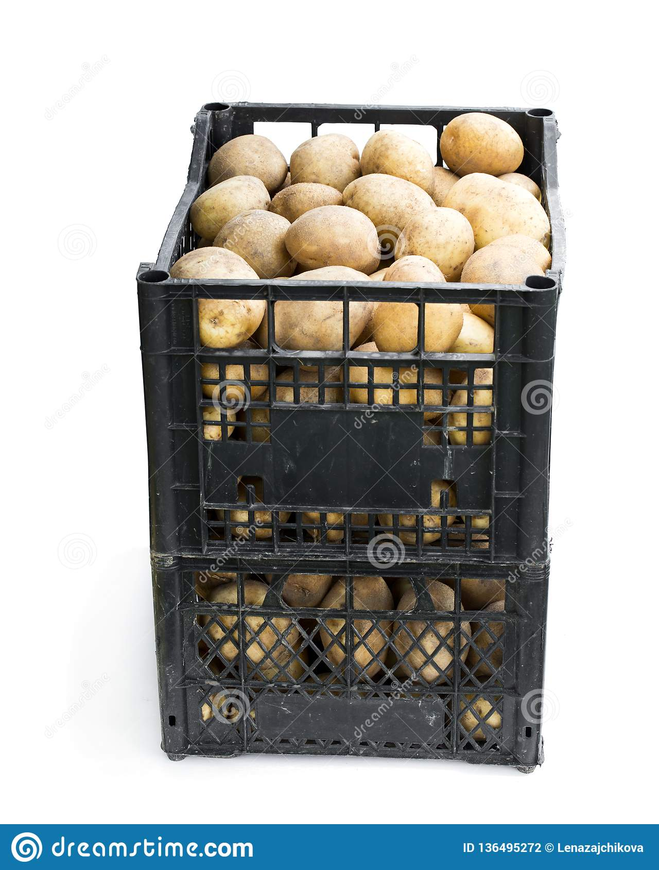 Prix Caisse A Pomme pommes de terre de primeurs fraîches dans des caisses en