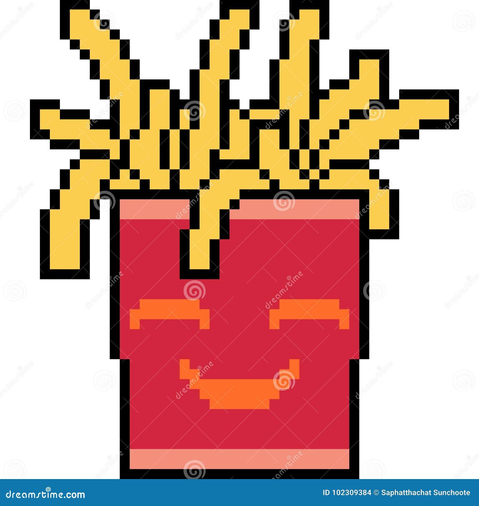 Pommes Frites Dart De Pixel De Vecteur Illustration De
