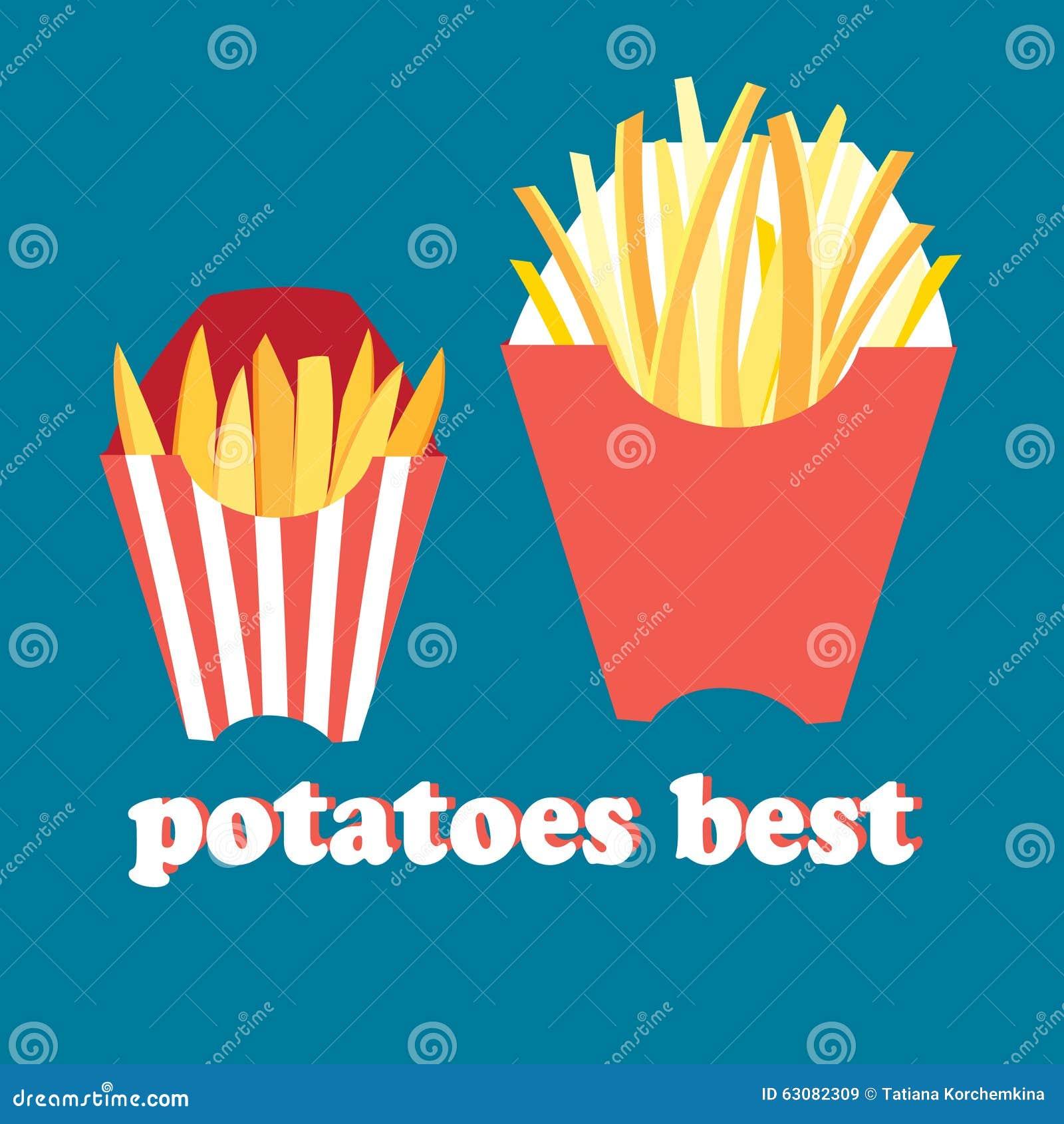 Download Pommes frites savoureuses illustration de vecteur. Illustration du cuit - 63082309