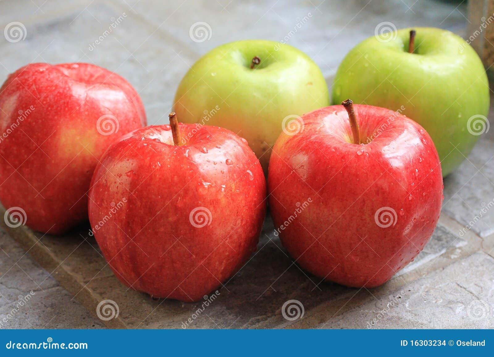 Pommes lavées