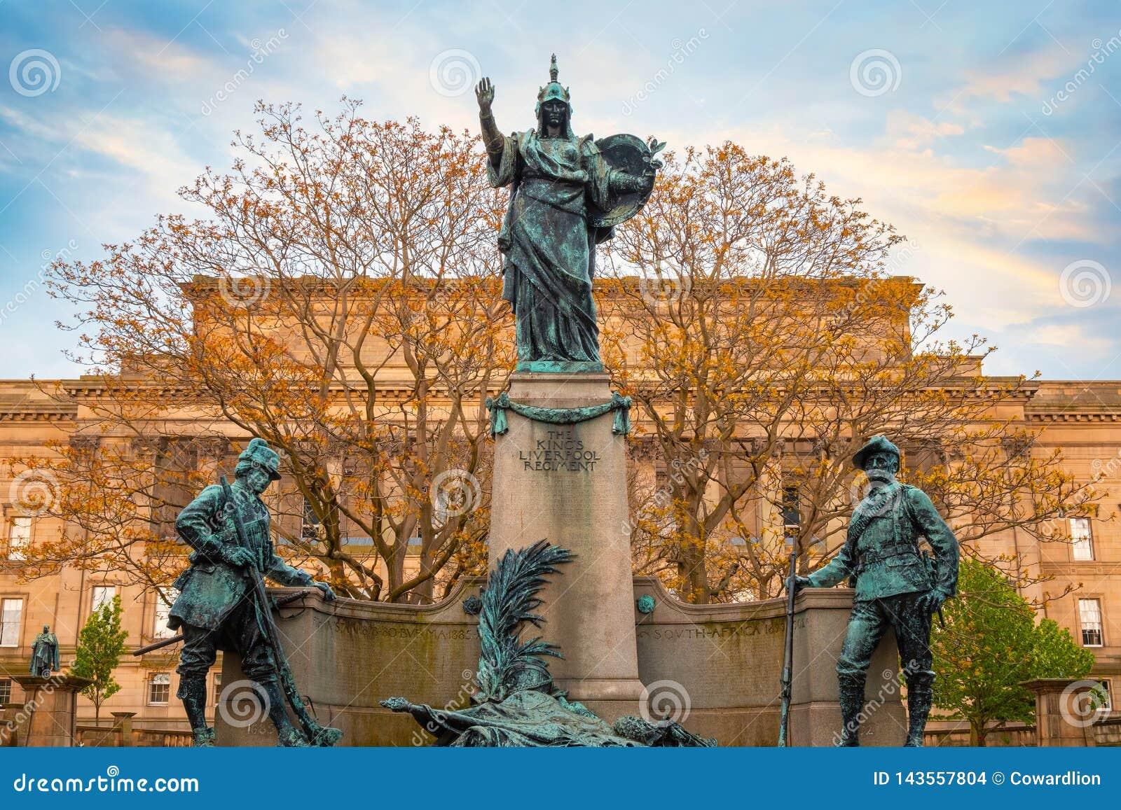 Pomnik królewiątka Liverpool pułk w Liverpool, UK