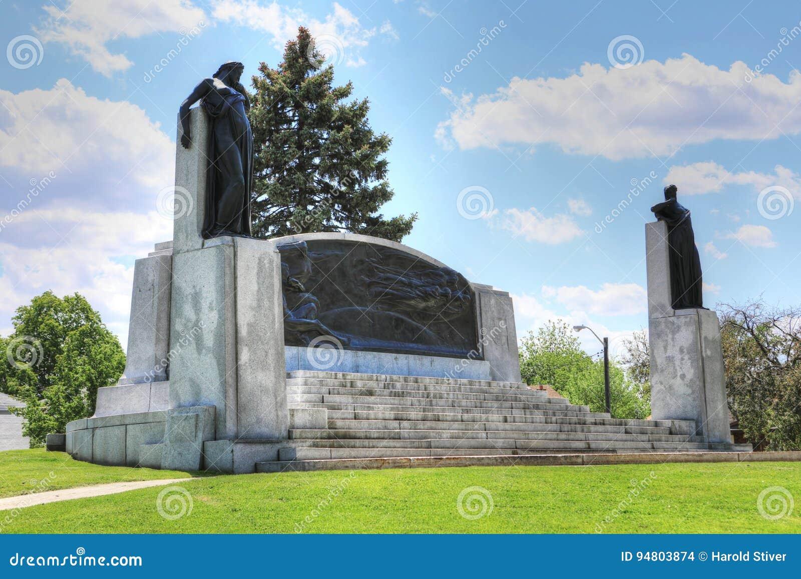Pomnik w Brantford, Ontario, Kanada dla Alexander Graham Bell