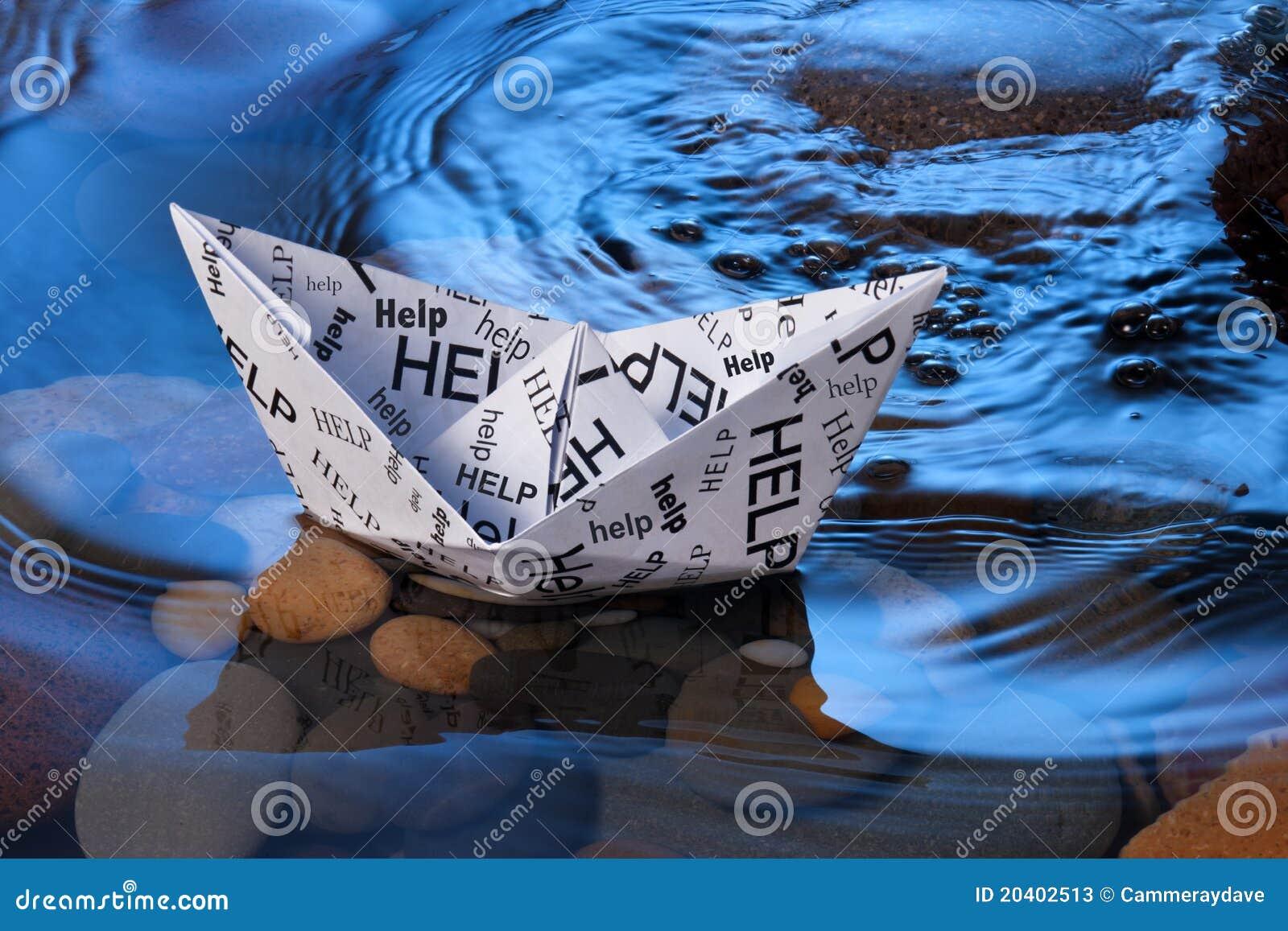 Pomoc łódkowaty papier
