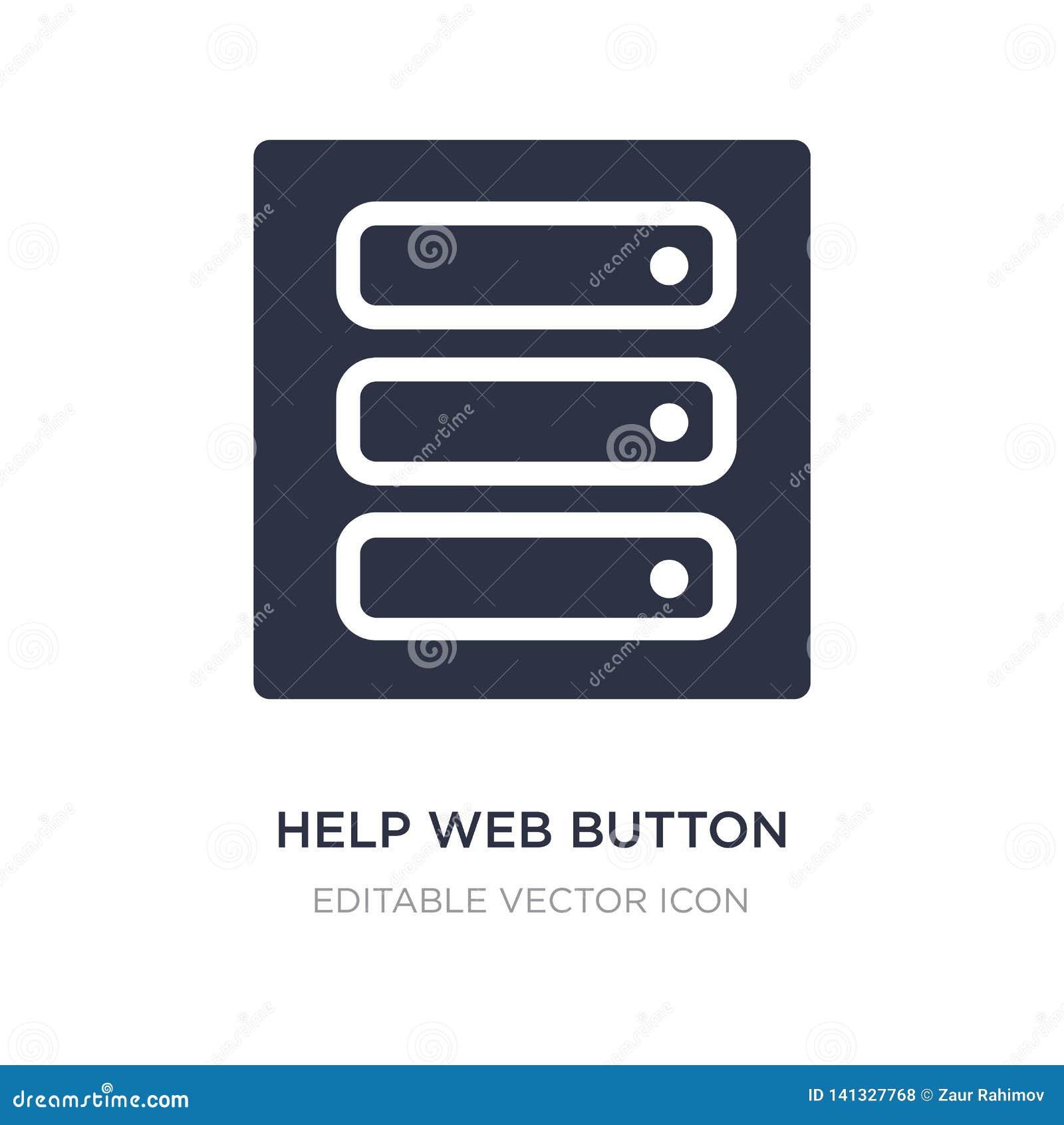 Pomocy sieci guzika ikona na białym tle Prosta element ilustracja od UI pojęcia