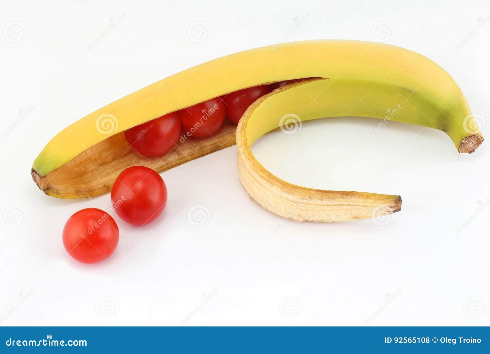 Pomodori nella banana delle coperture