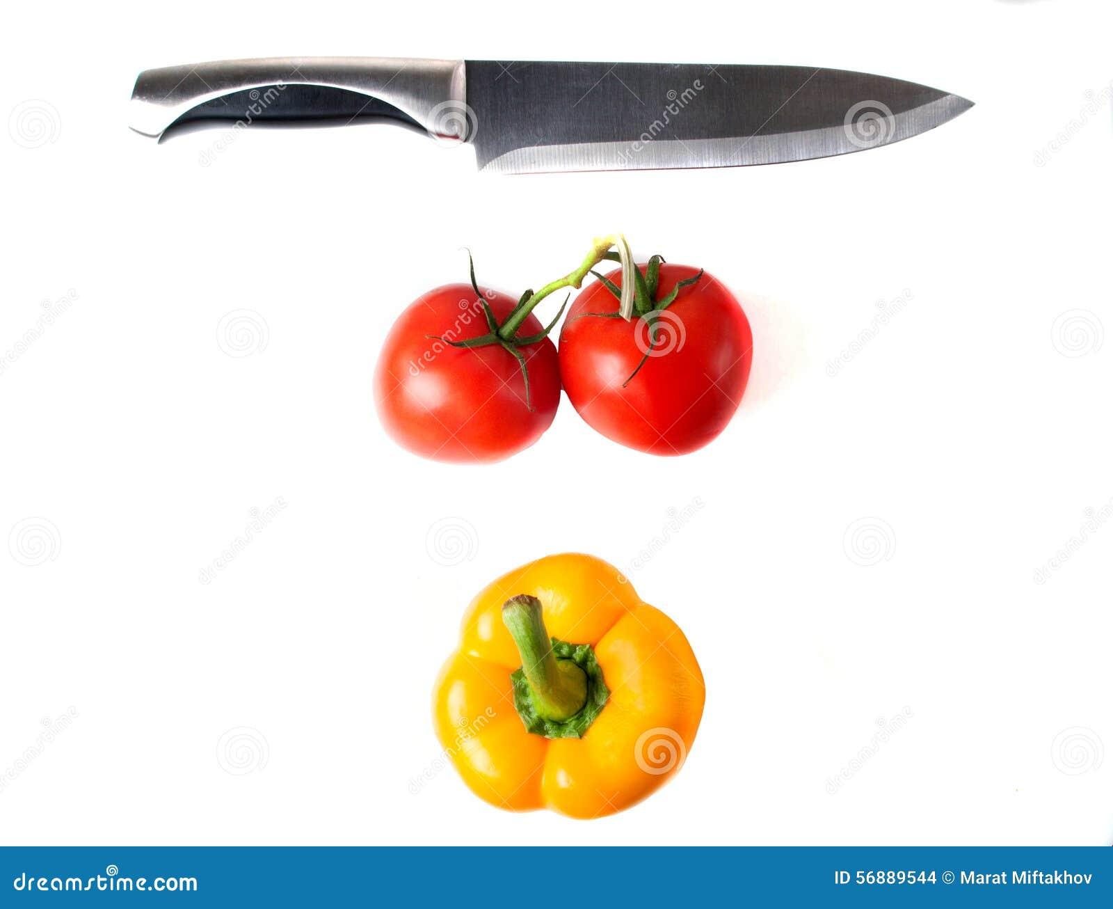 Pomodori rossi e pepe giallo