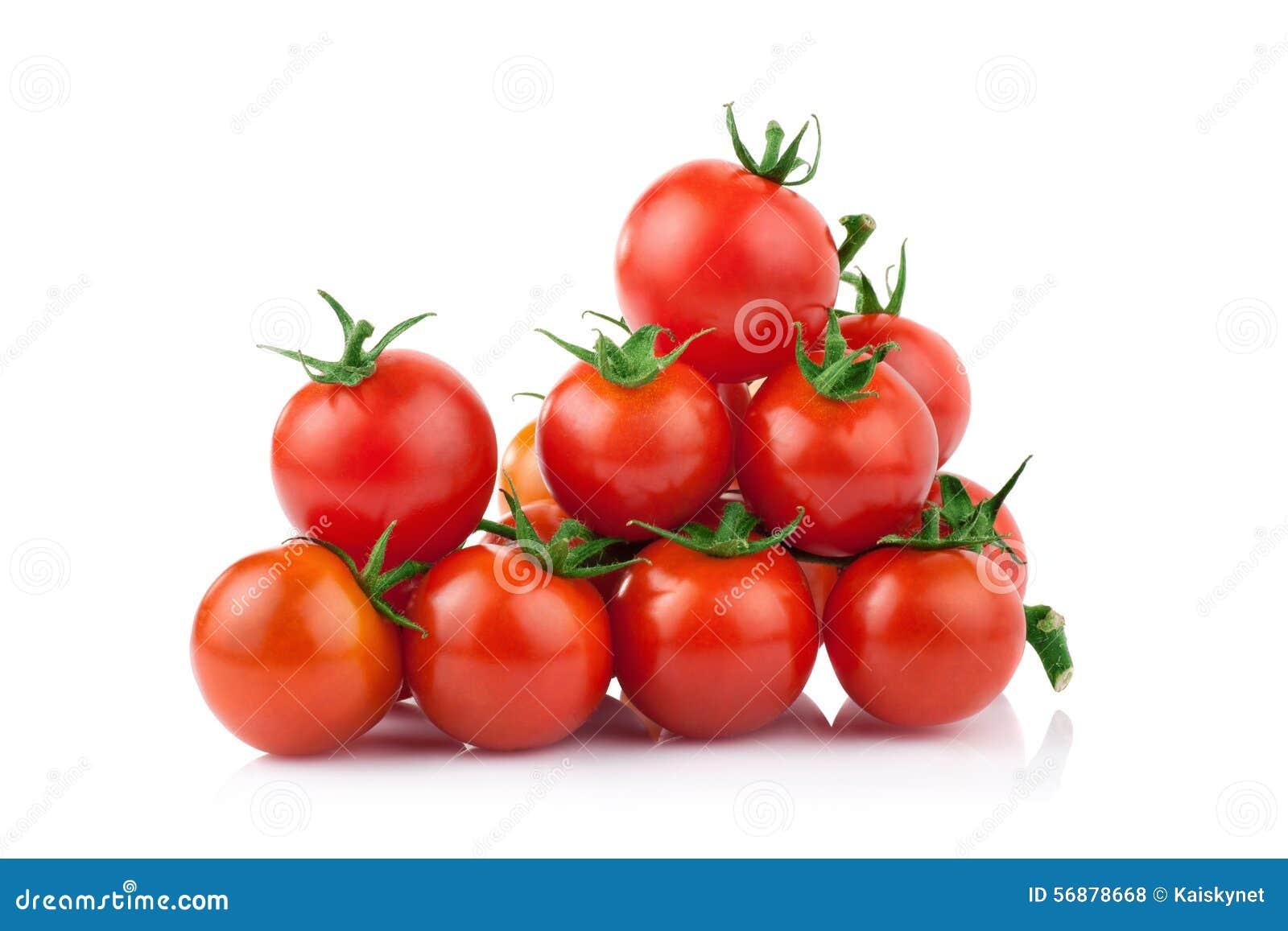 Pomodoro isolato sui precedenti bianchi