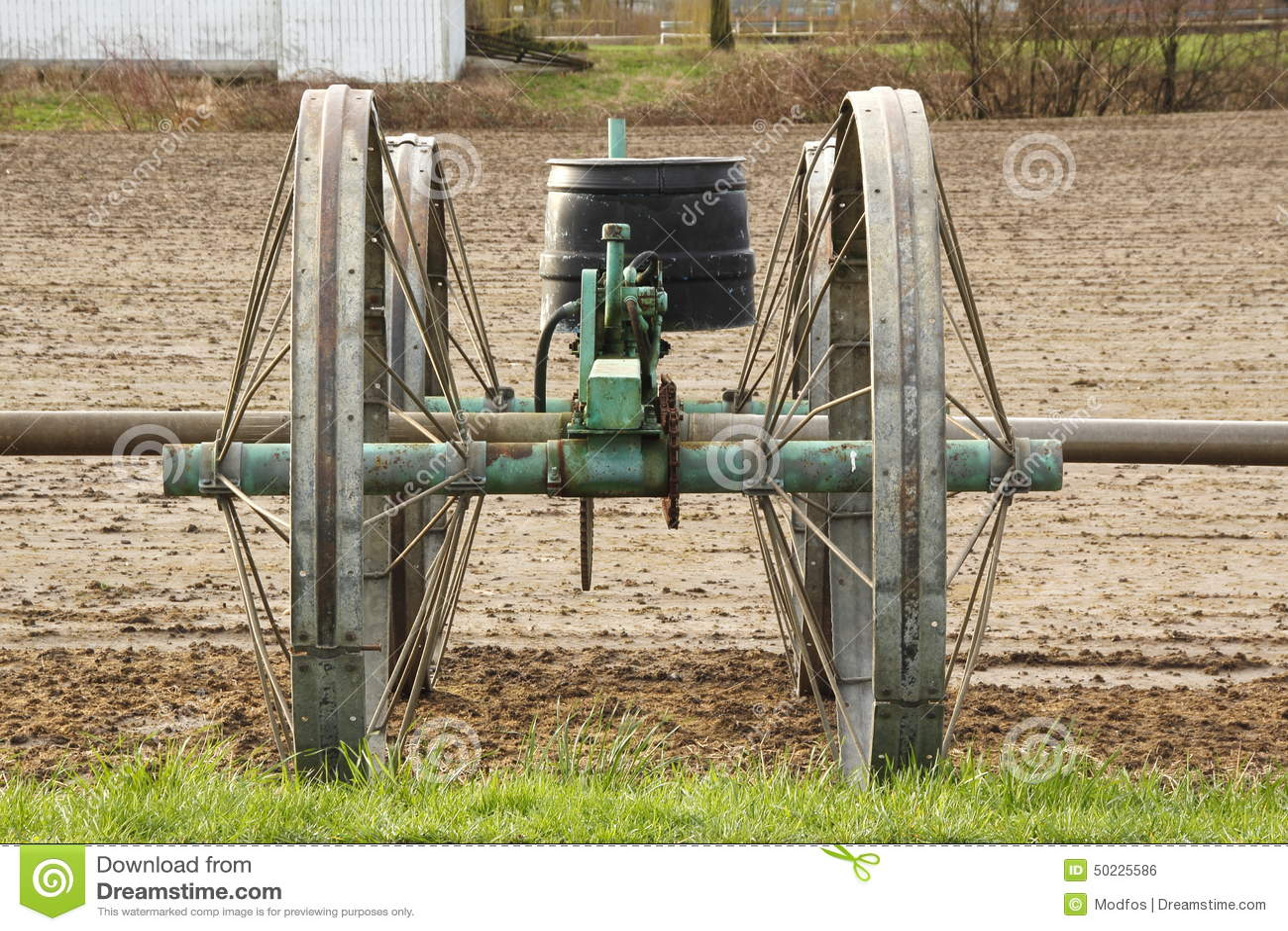 Pompa idraulica per irrigazione agricola fotografia stock for Pompa per irrigazione