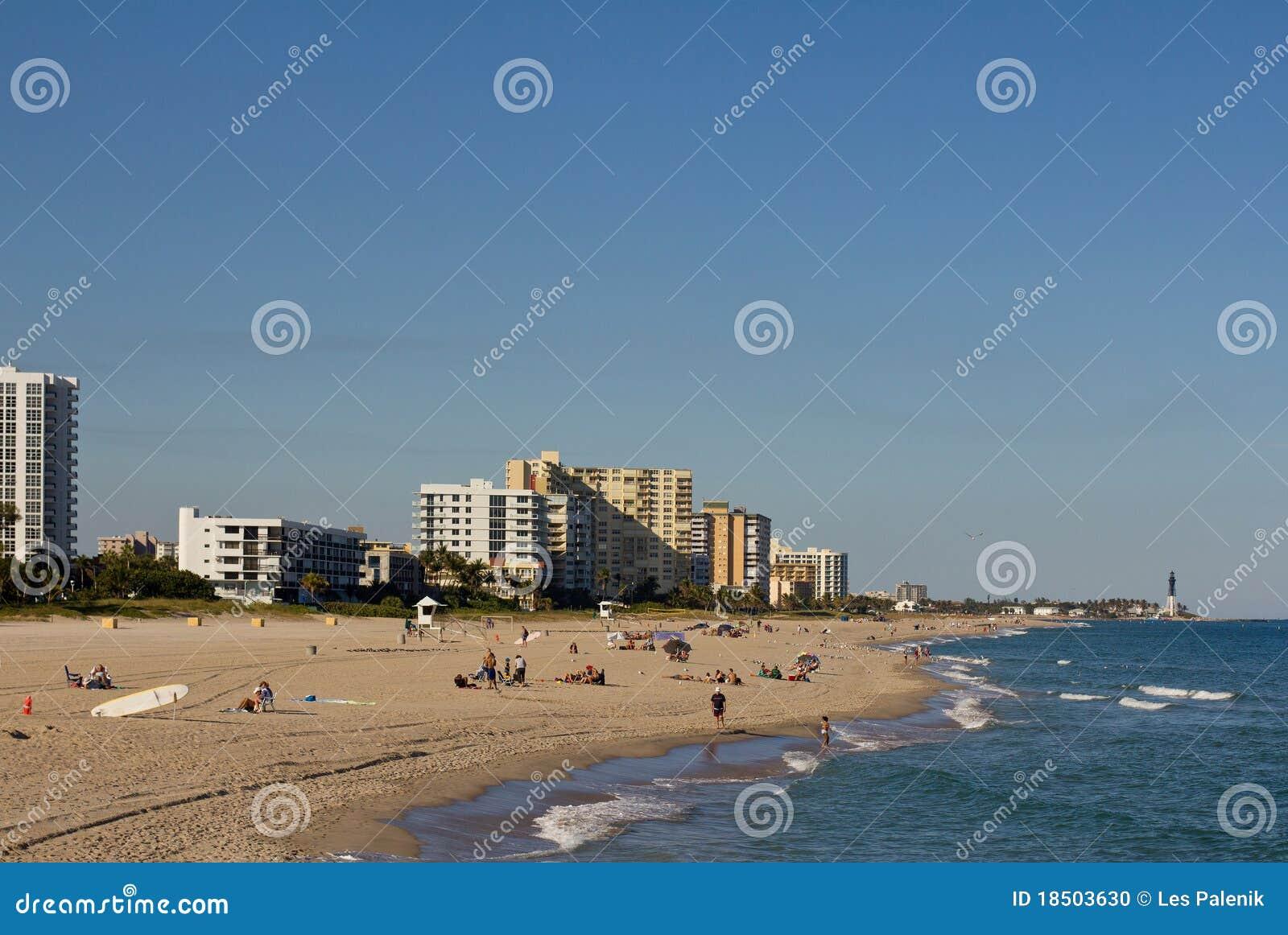 Pompano маяка пляжа