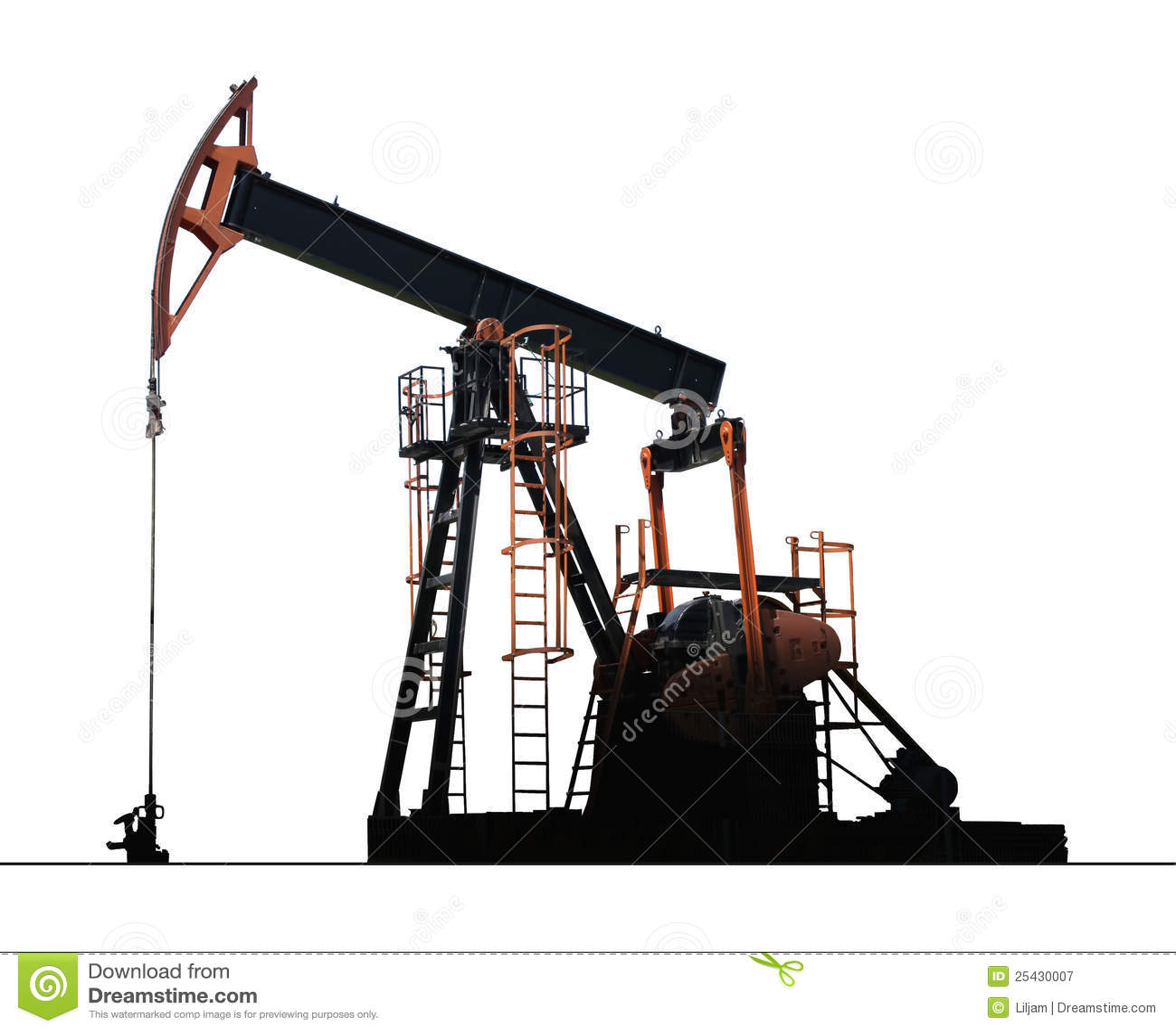 Pompe d 39 isolement de puits de p trole photographie stock libre de droits image 25430007 - Pompe a petrole ...
