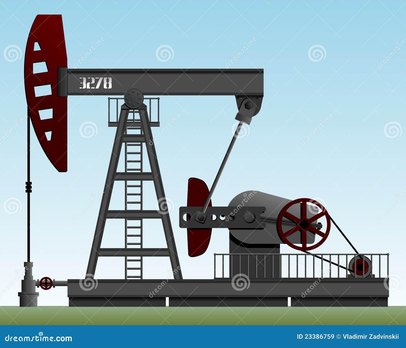 Pompe de p trole images libres de droits image 23386759 - Pompe a petrole ...
