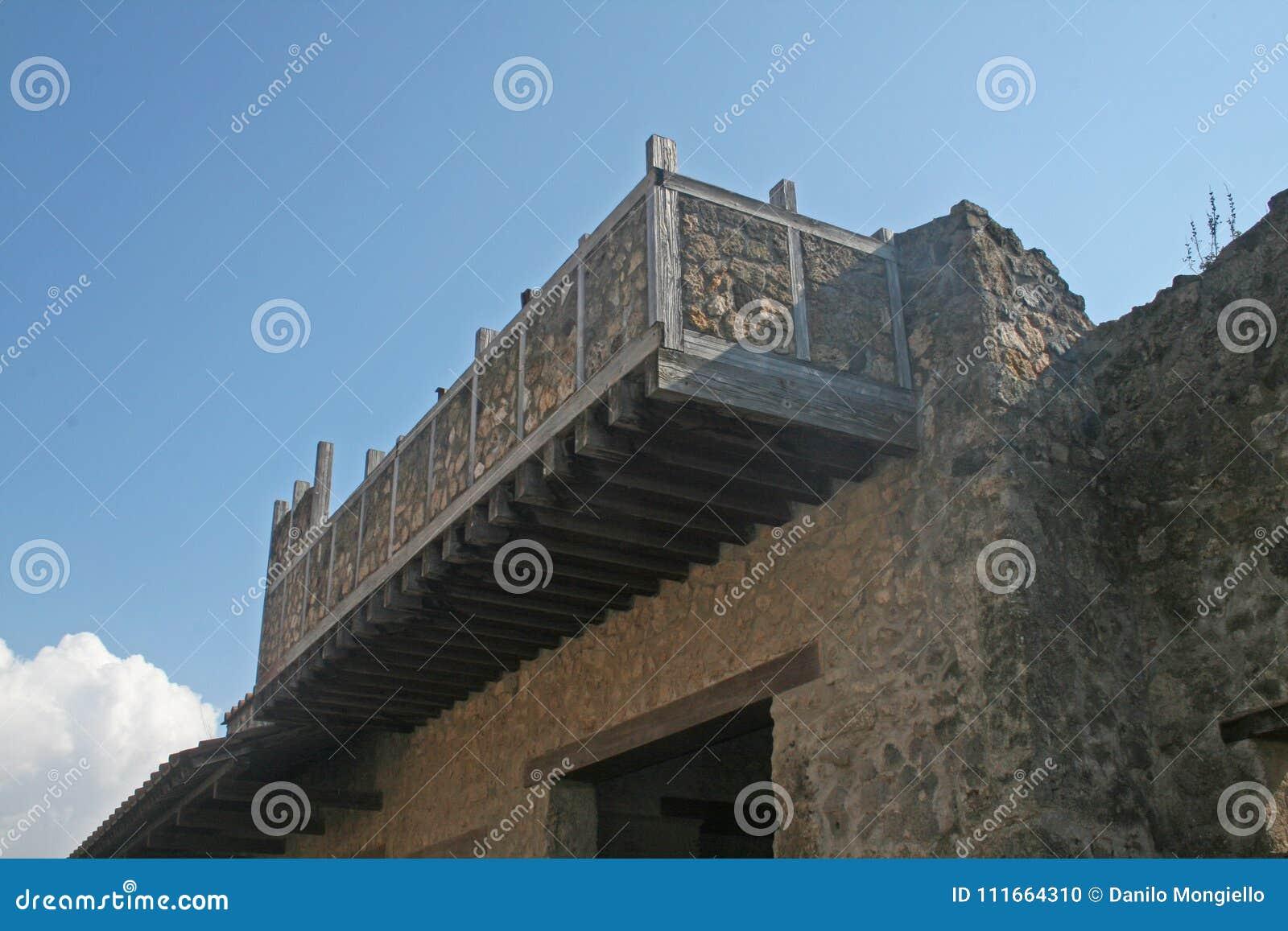 Pompeii balkong